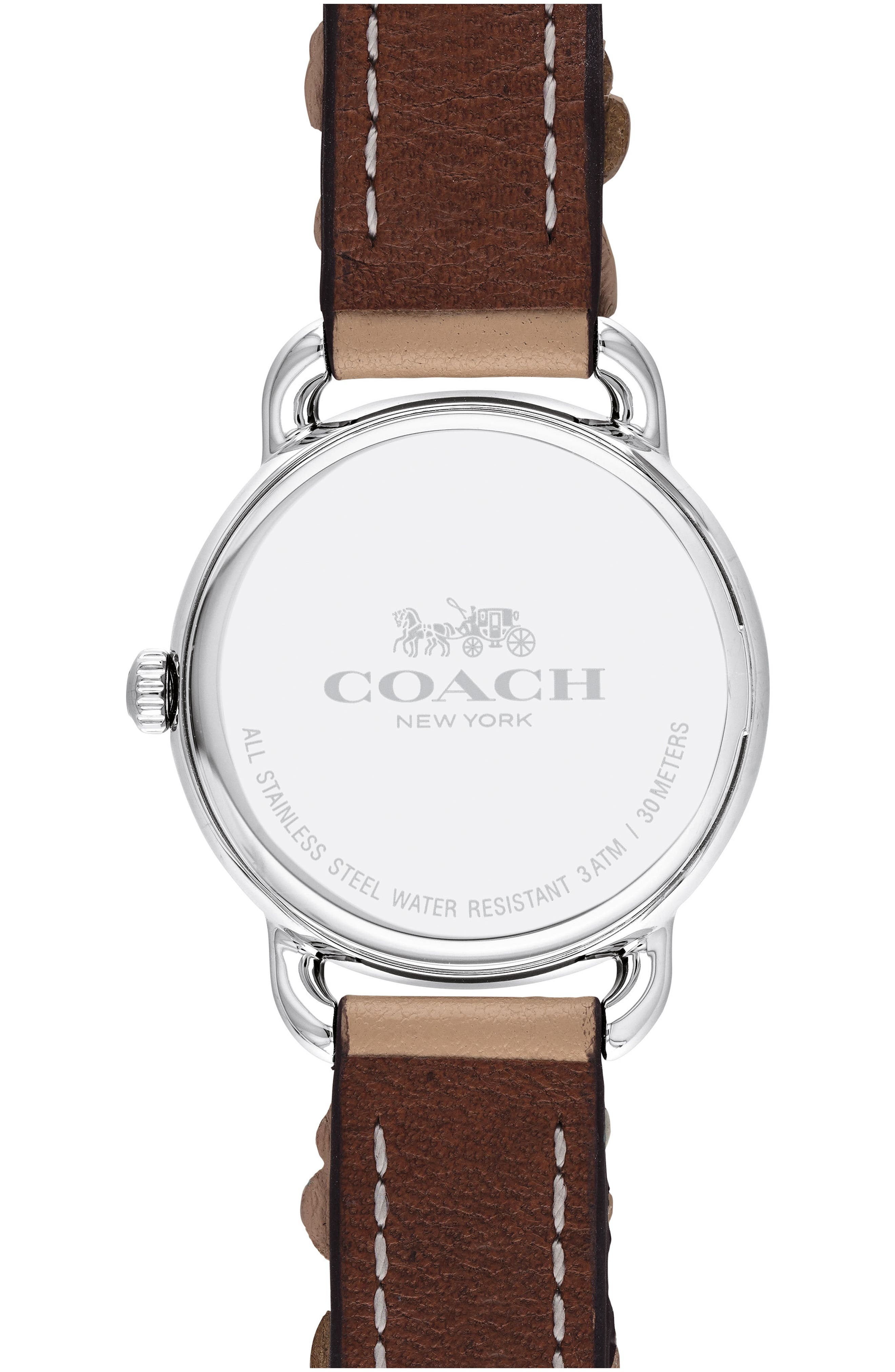 Delancey Floral Leather Strap Watch, 28mm,                             Alternate thumbnail 2, color,                             PINK/ WHITE/ SILVER