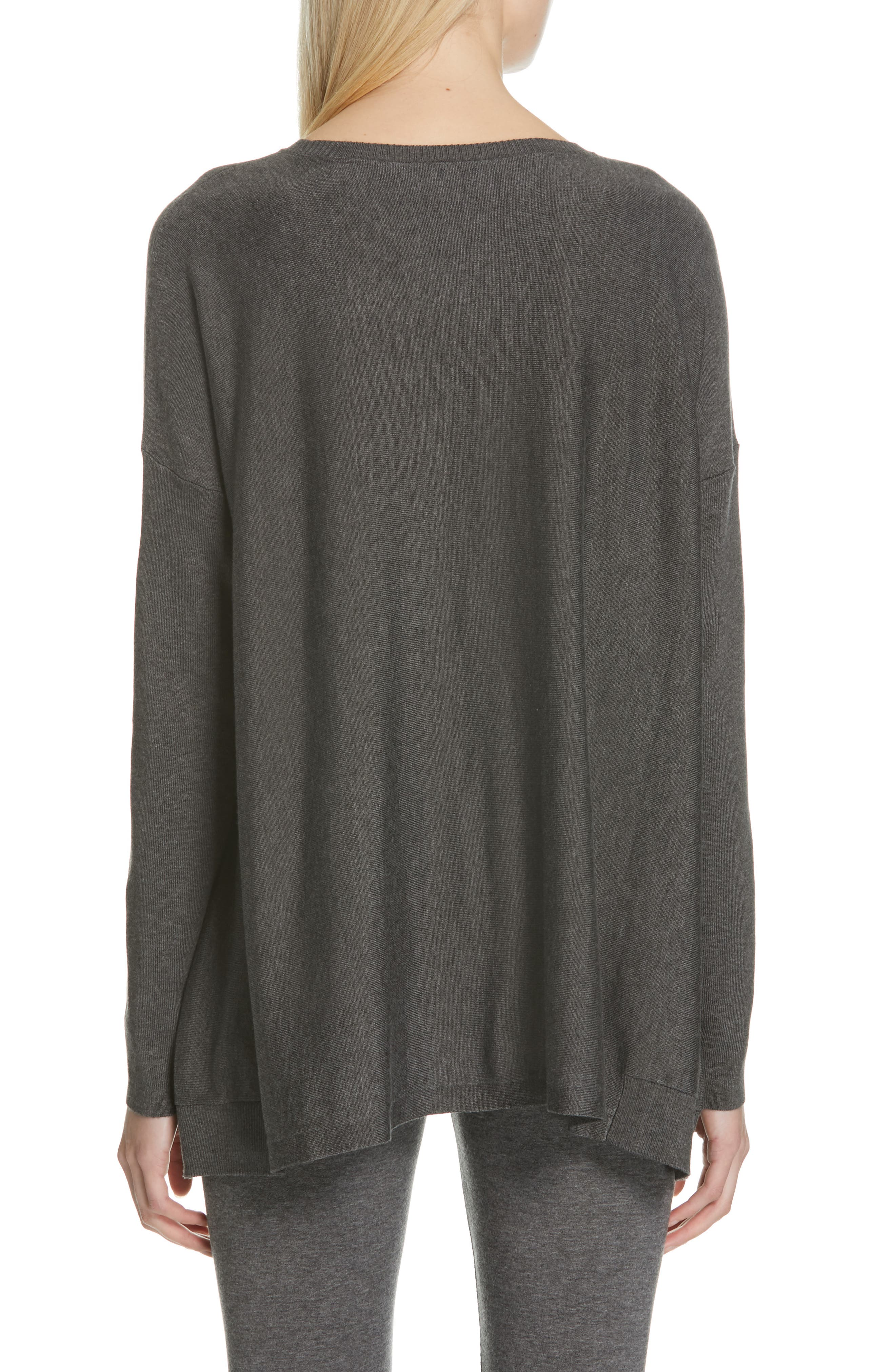 EILEEN FISHER, Tencel<sup>®</sup> Lyocell Blend Sweater, Alternate thumbnail 2, color, 030