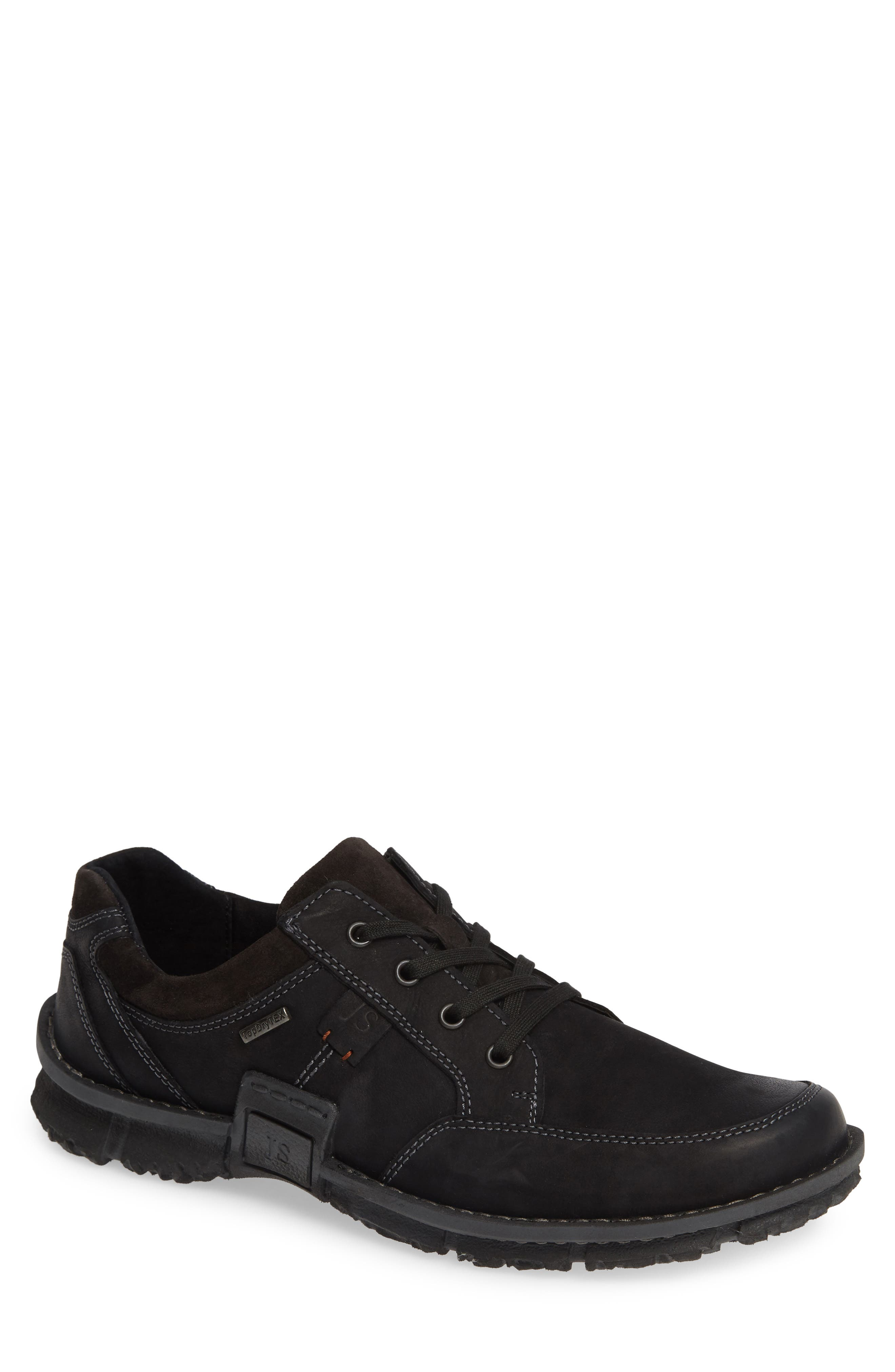 JOSEF SEIBEL Willow 33 Sneaker, Main, color, BLACK LEATHER