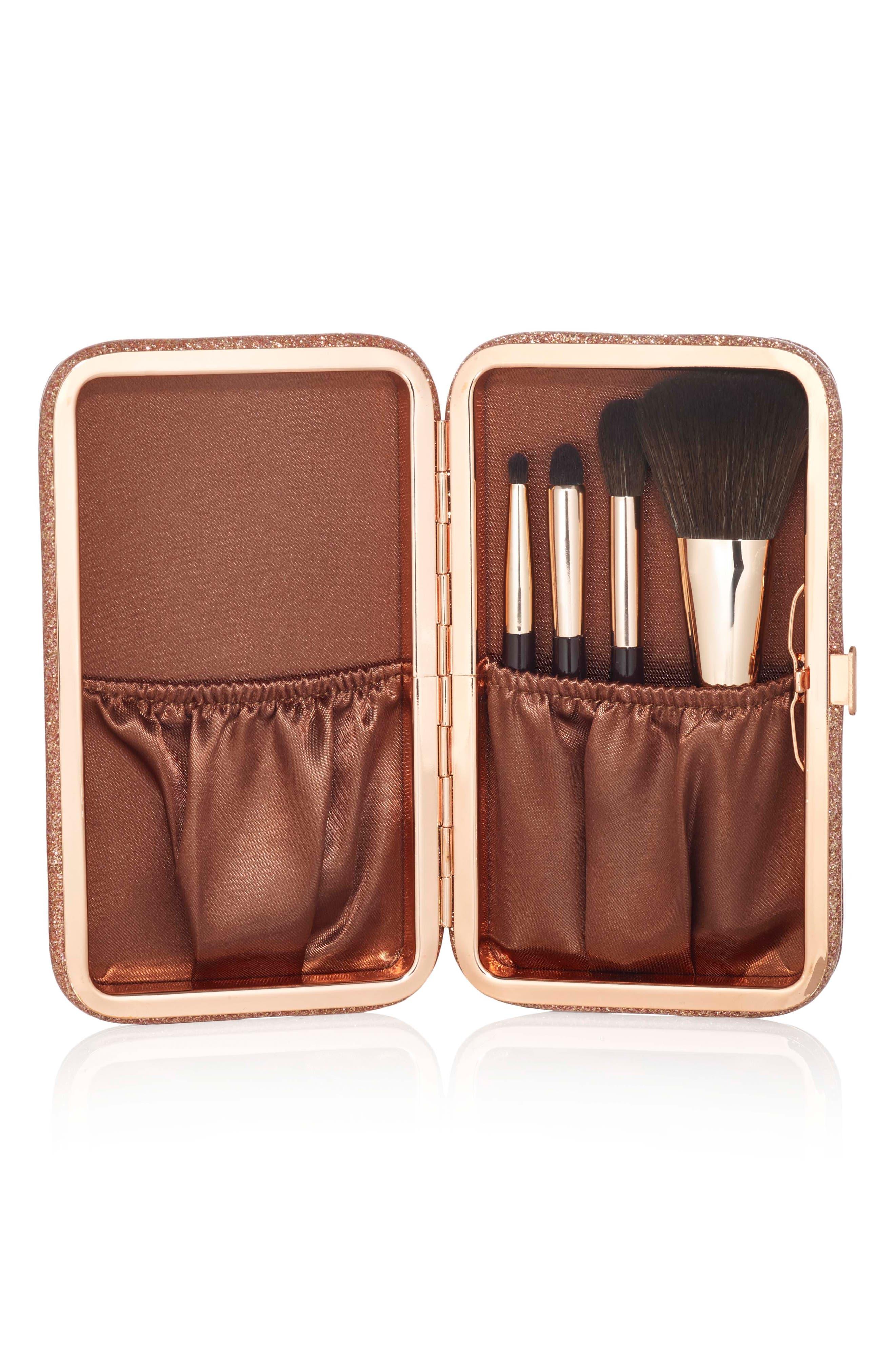 Mini Magic Brush Set & Glimmering Goddess Clutch,                         Main,                         color, NO COLOR