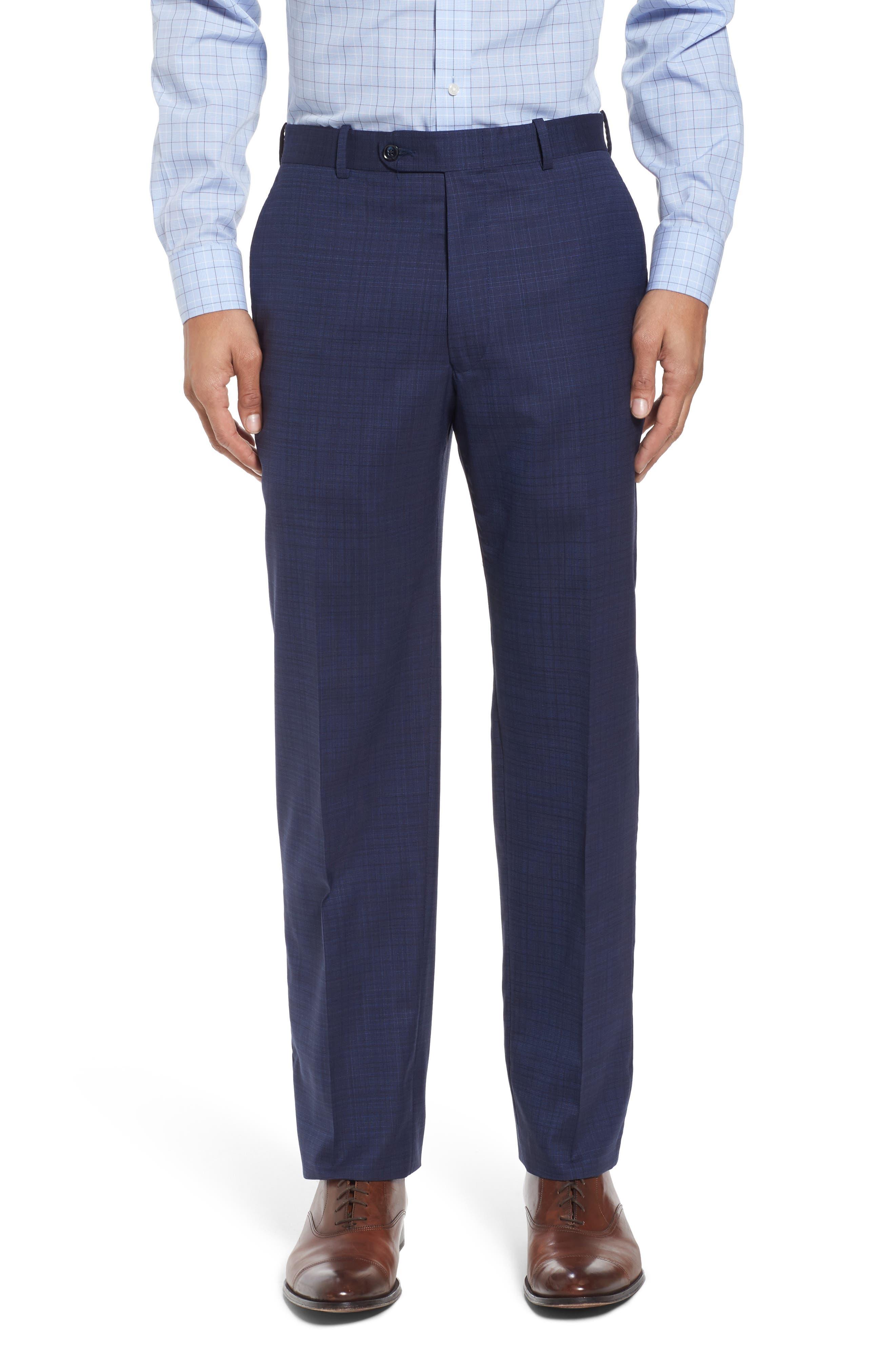 Classic Fit Check Wool Suit,                             Alternate thumbnail 6, color,                             400