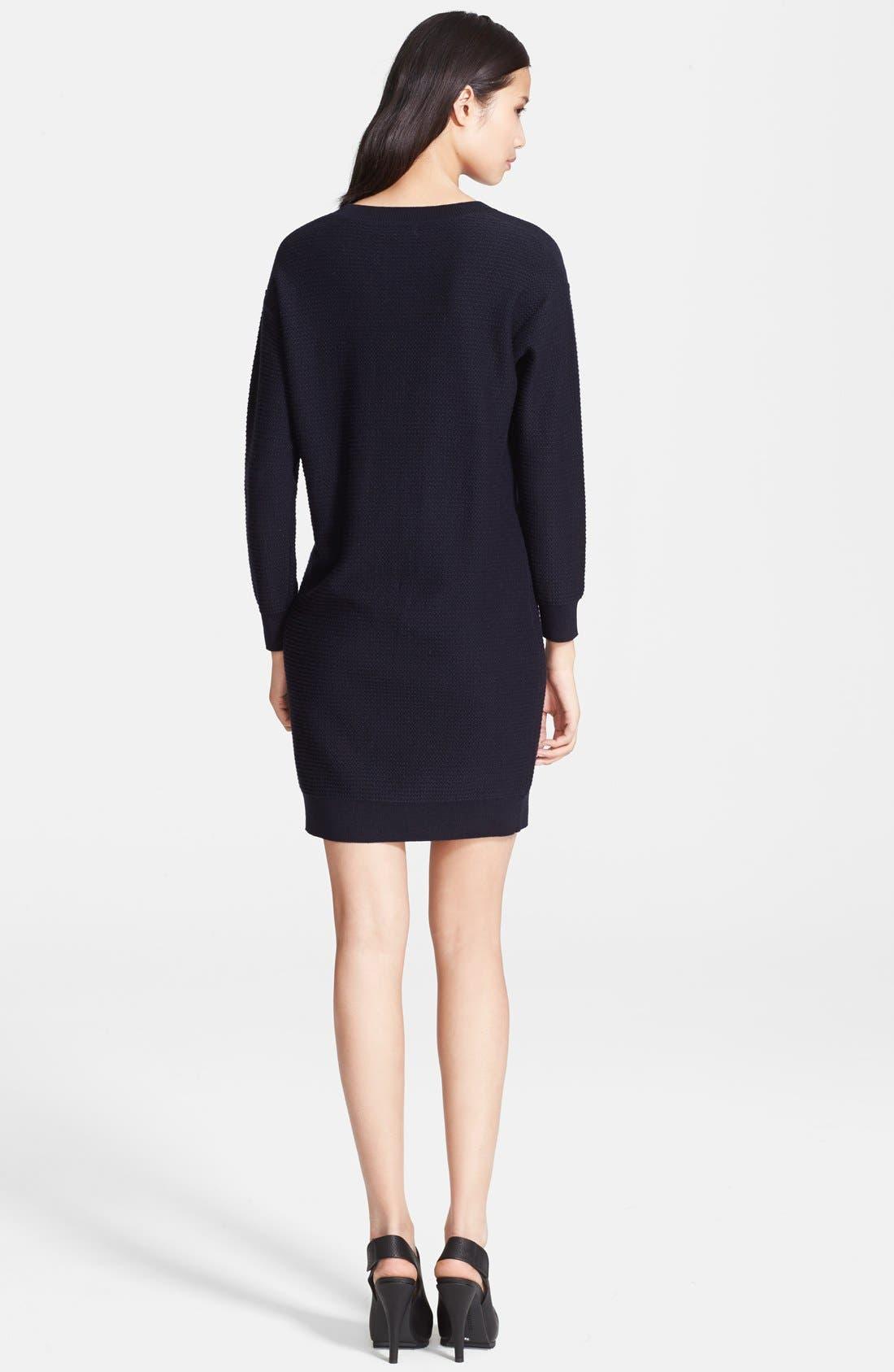 A.P.C.,                             'West Coast' Waffle Knit Sweater Dress,                             Alternate thumbnail 2, color,                             410