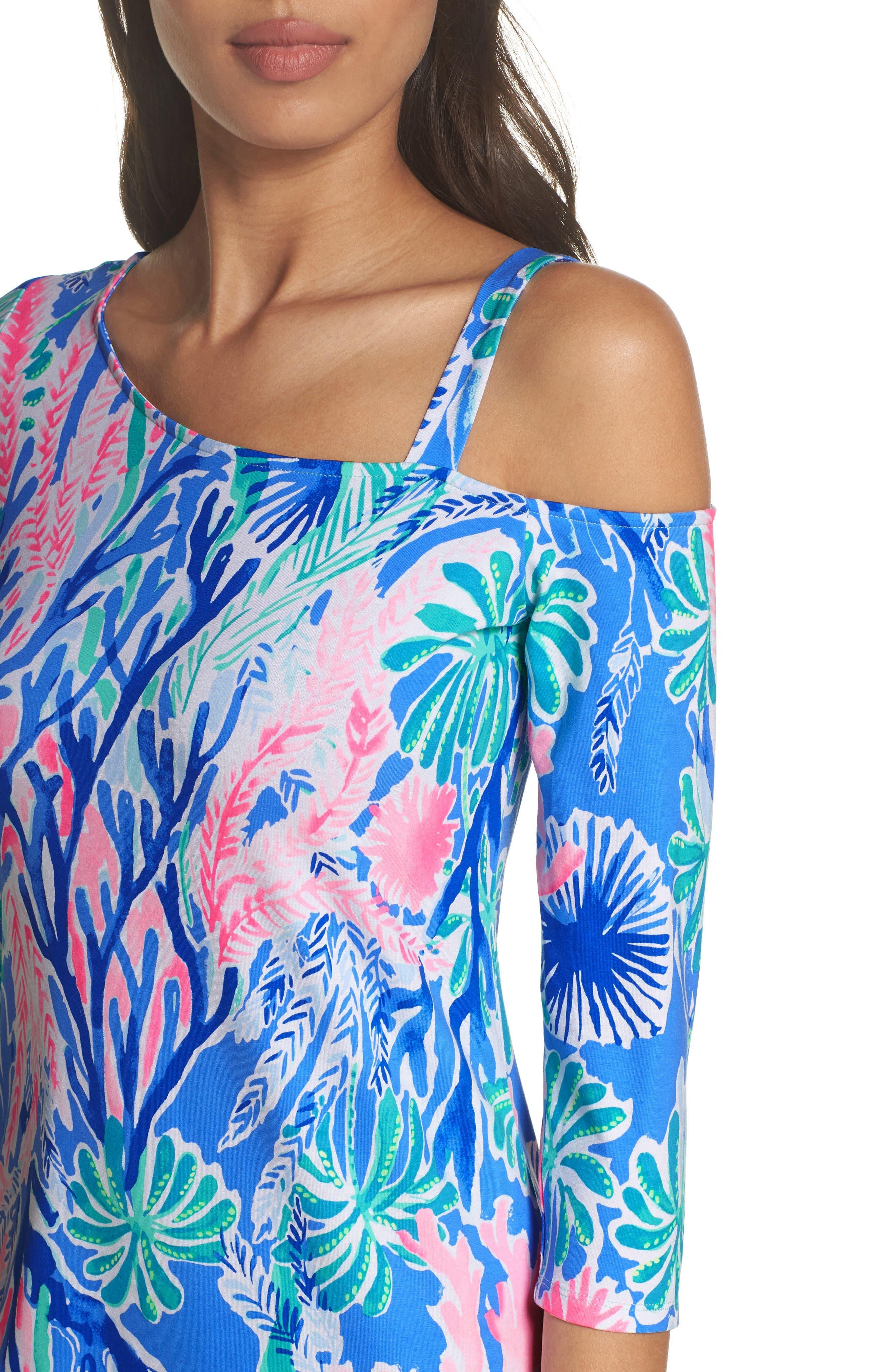 One-Shoulder Minidress,                             Alternate thumbnail 4, color,                             400