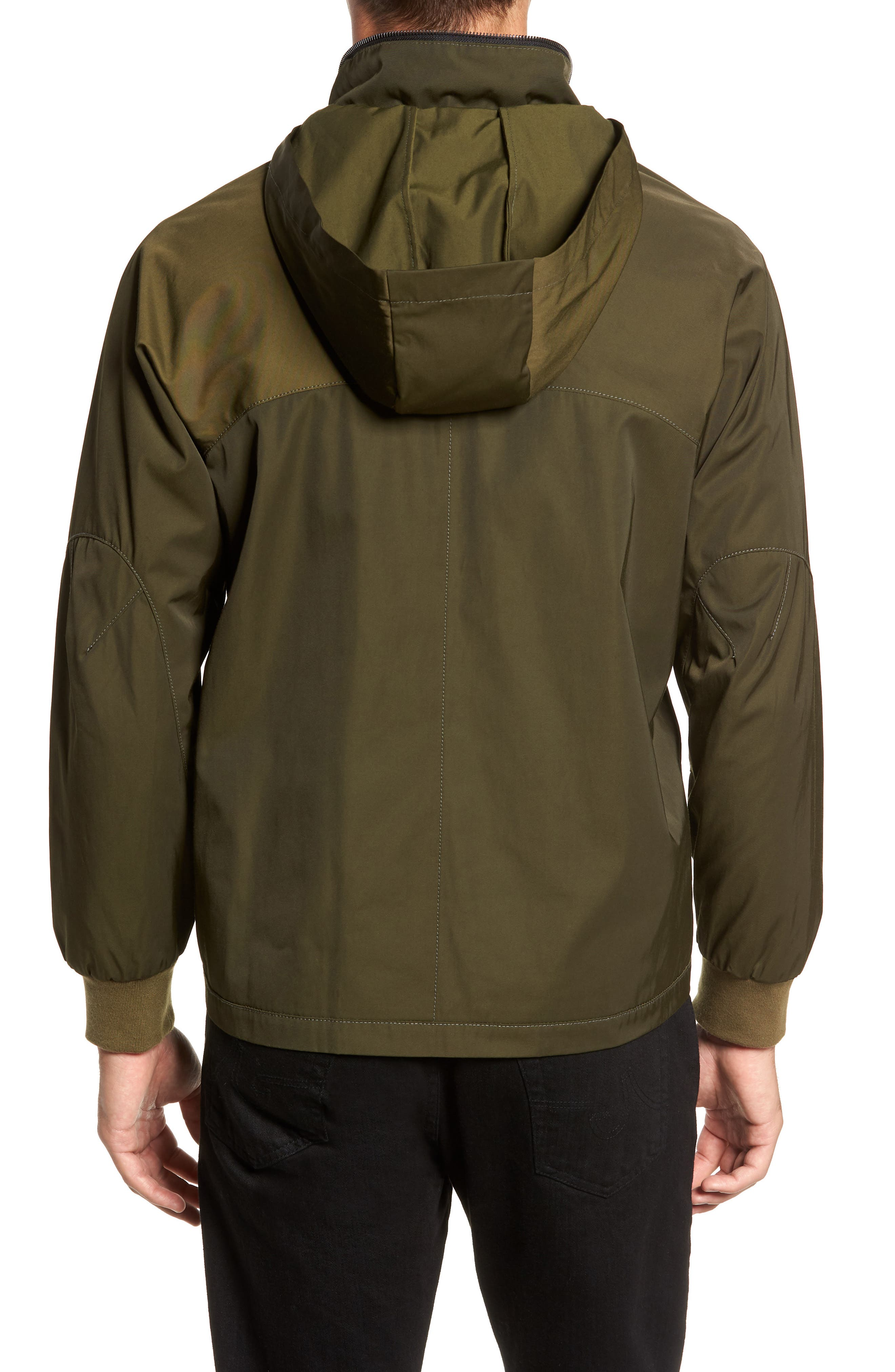Slim Fit Delta Bomber Jacket,                             Alternate thumbnail 2, color,                             OLIVE