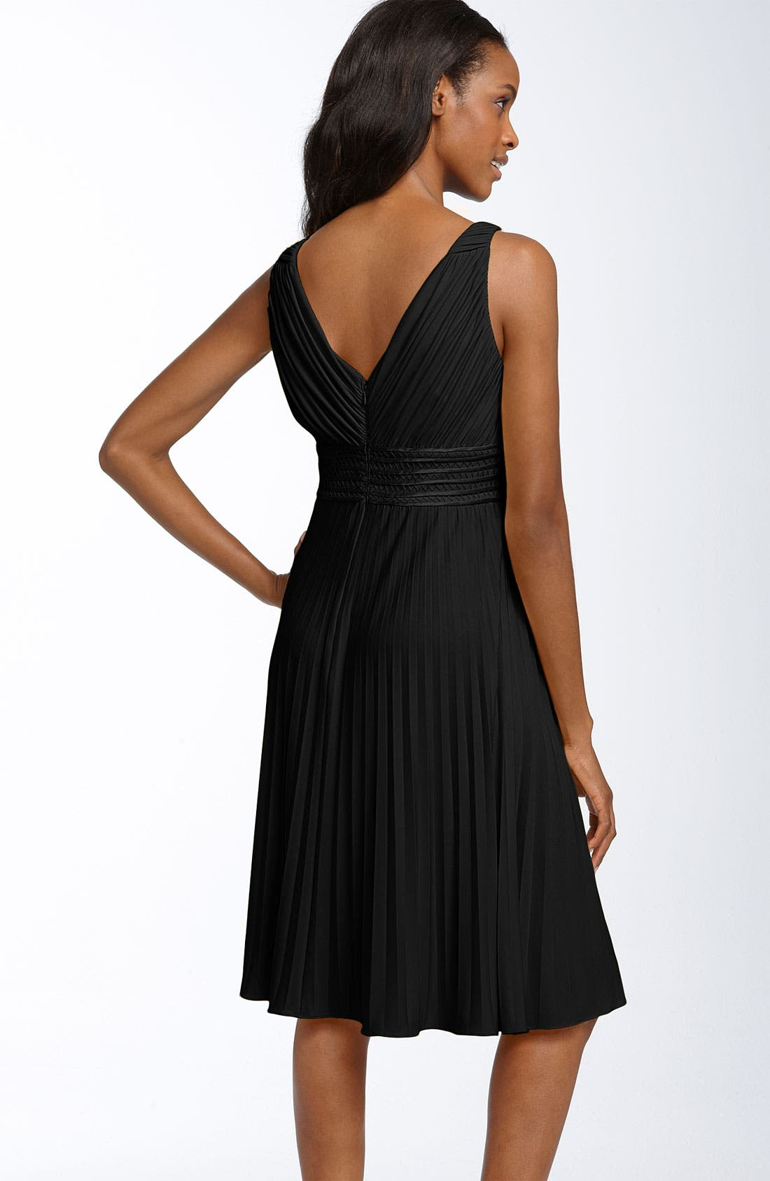 Suzi Chin for Maggy Boutique Pleated Jersey Dress,                             Alternate thumbnail 2, color,                             001