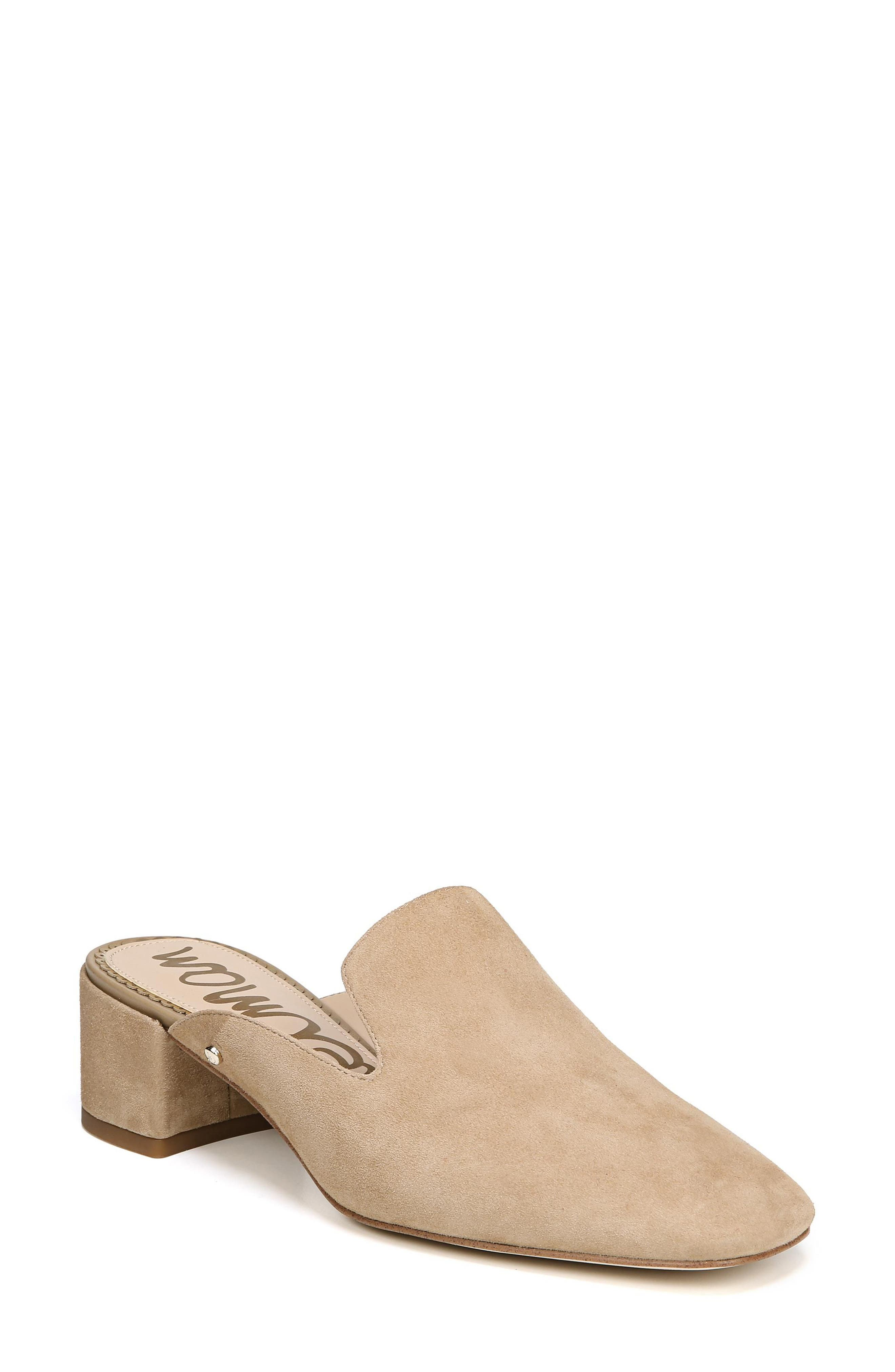 Adair Loafer Mule,                         Main,                         color, OATMEAL LEATHER