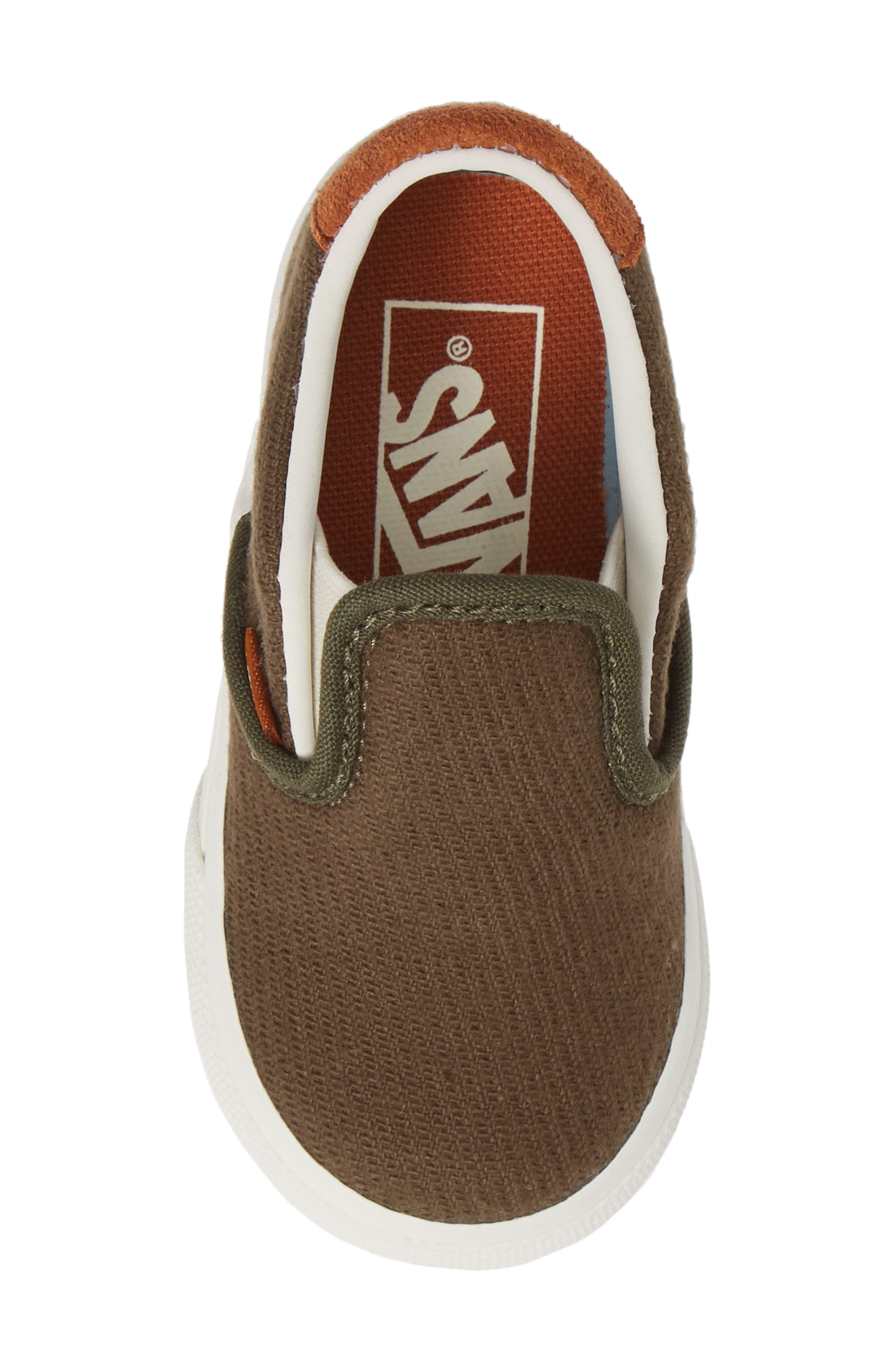 59 Slip-On Sneaker,                             Alternate thumbnail 5, color,                             FLANNEL DUSTY OLIVE