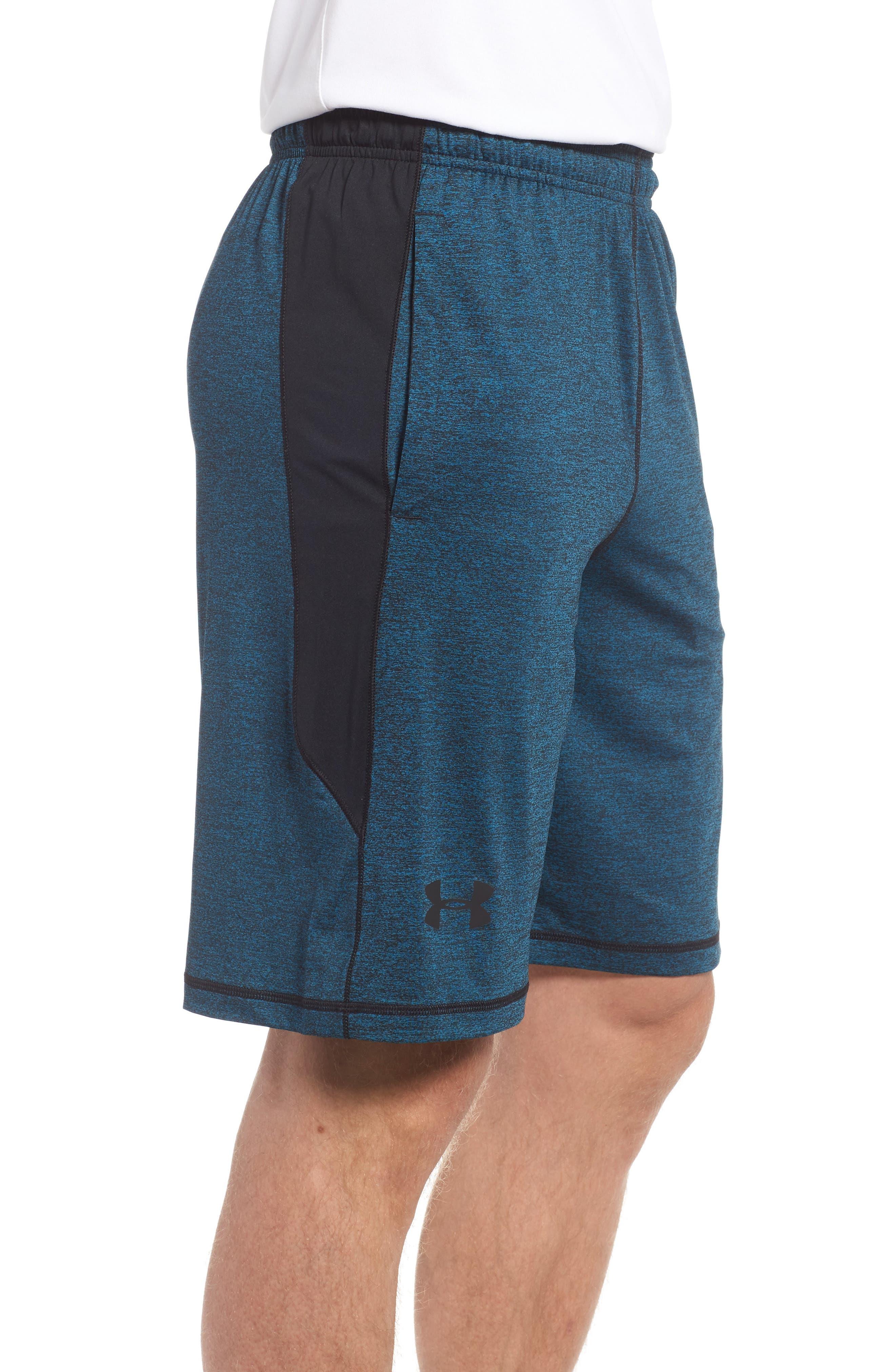 'Raid' HeatGear<sup>®</sup> Loose Fit Athletic Shorts,                             Alternate thumbnail 3, color,                             405
