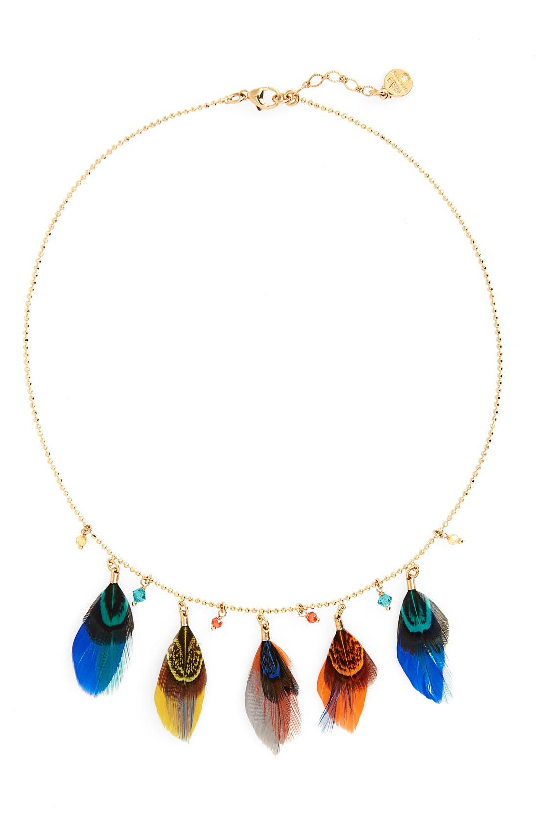 Feather Collar Necklace,                             Main thumbnail 2, color,