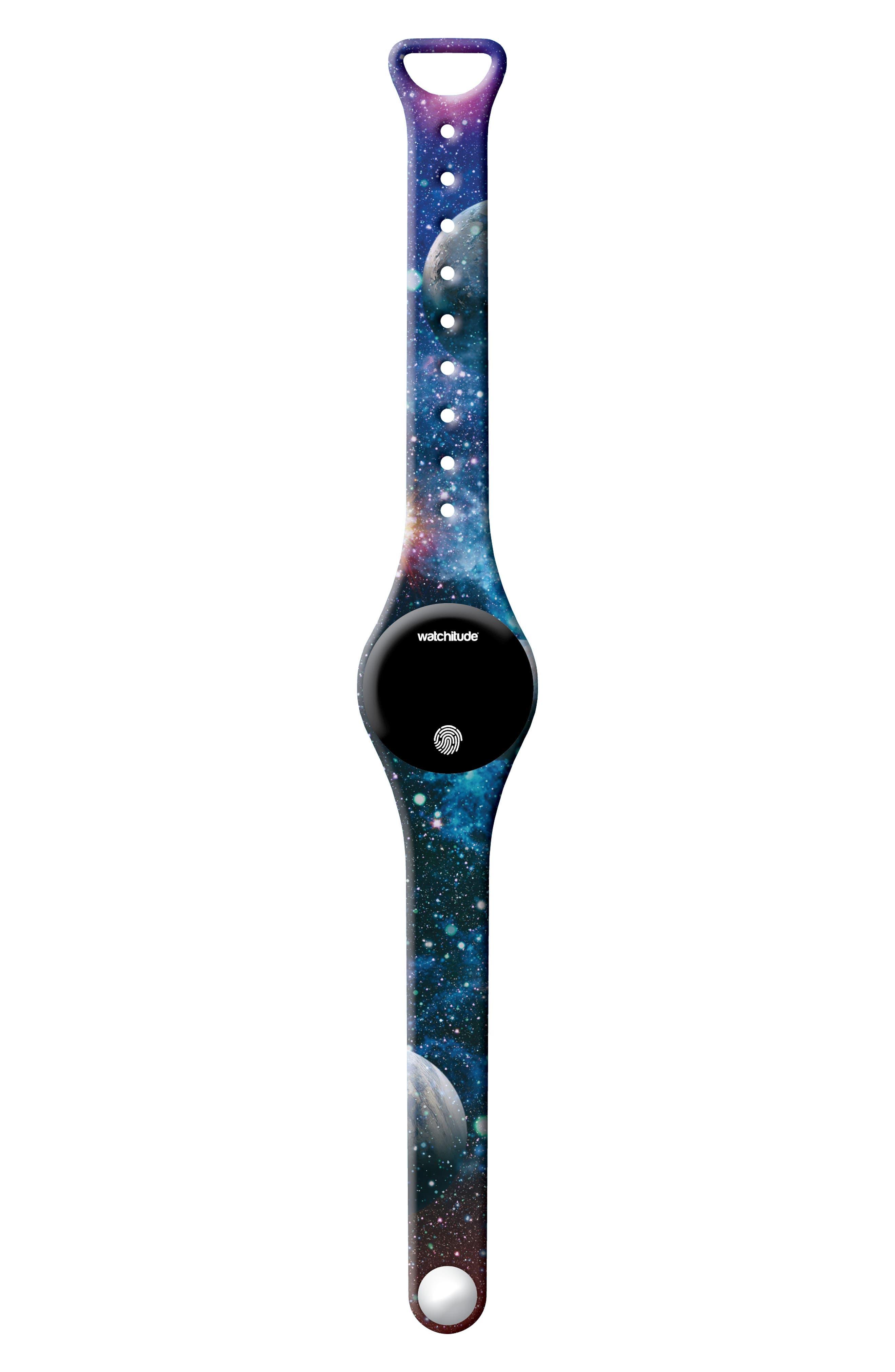 Galaxy Print Move Activity Tracker Watch,                             Main thumbnail 1, color,                             GALAXY