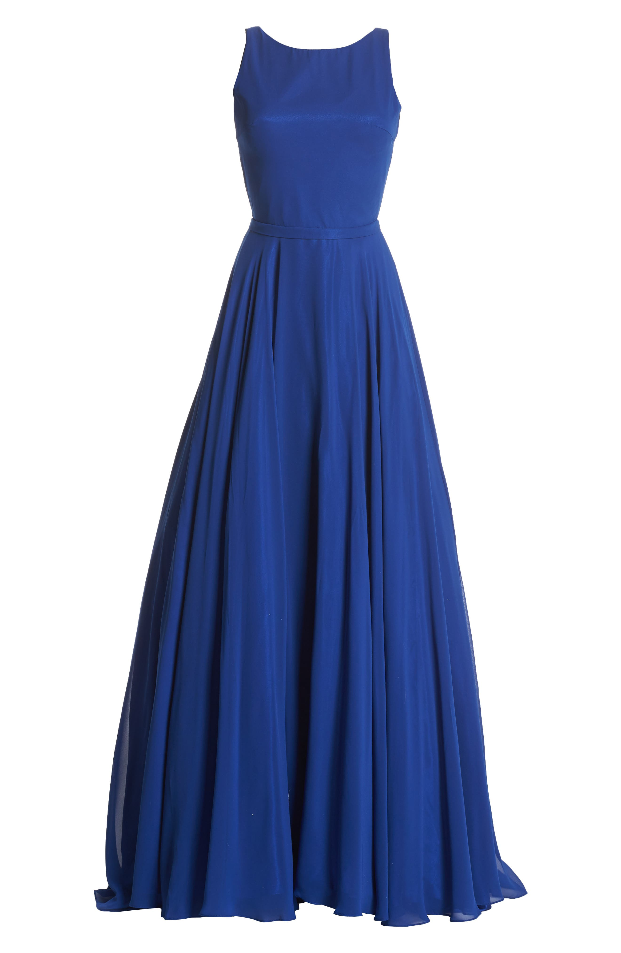 Mac Duggal Bateau Neck Ballgown,                             Alternate thumbnail 6, color,                             415