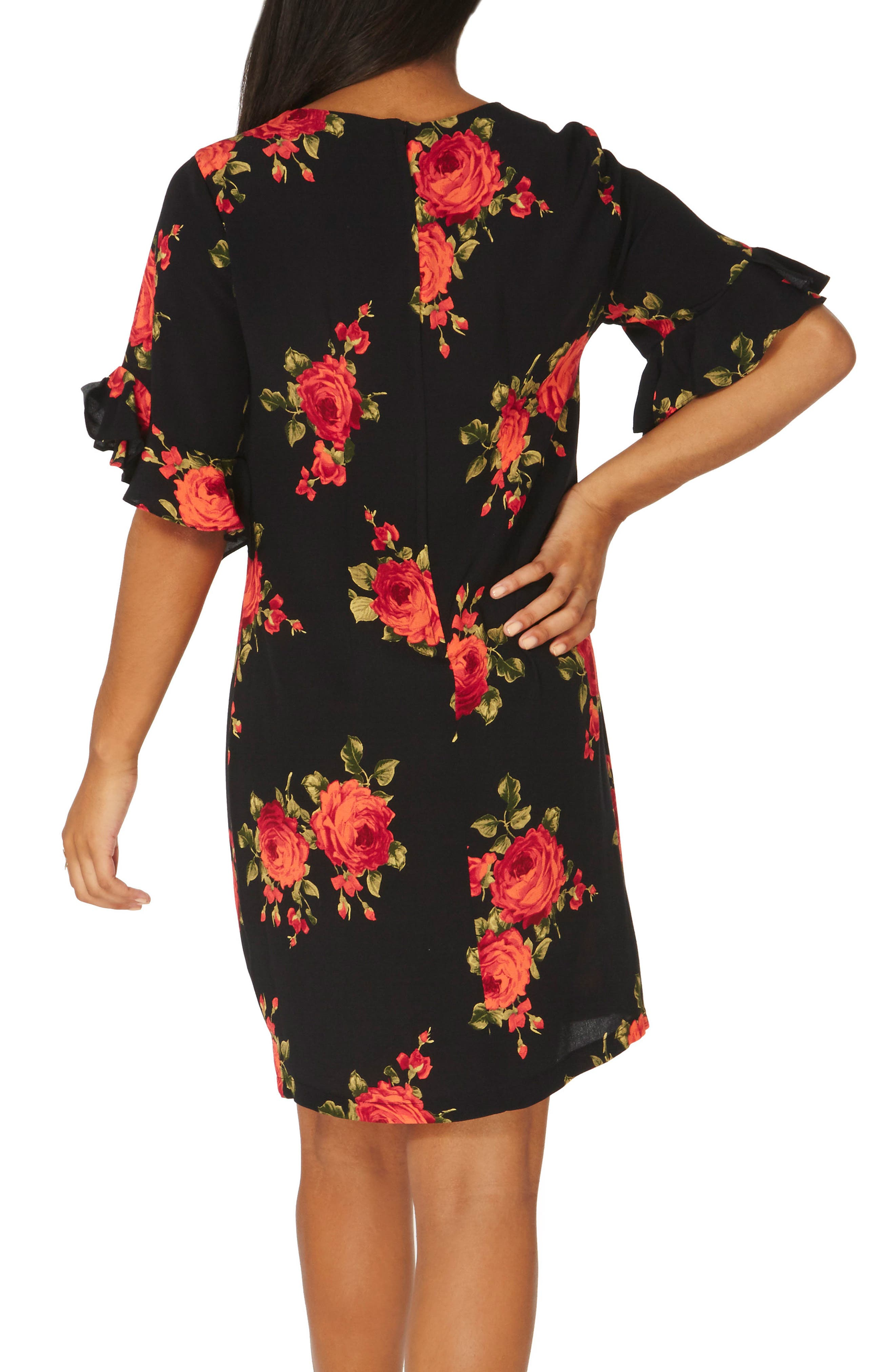 Rose Shift Dress,                             Alternate thumbnail 2, color,                             651