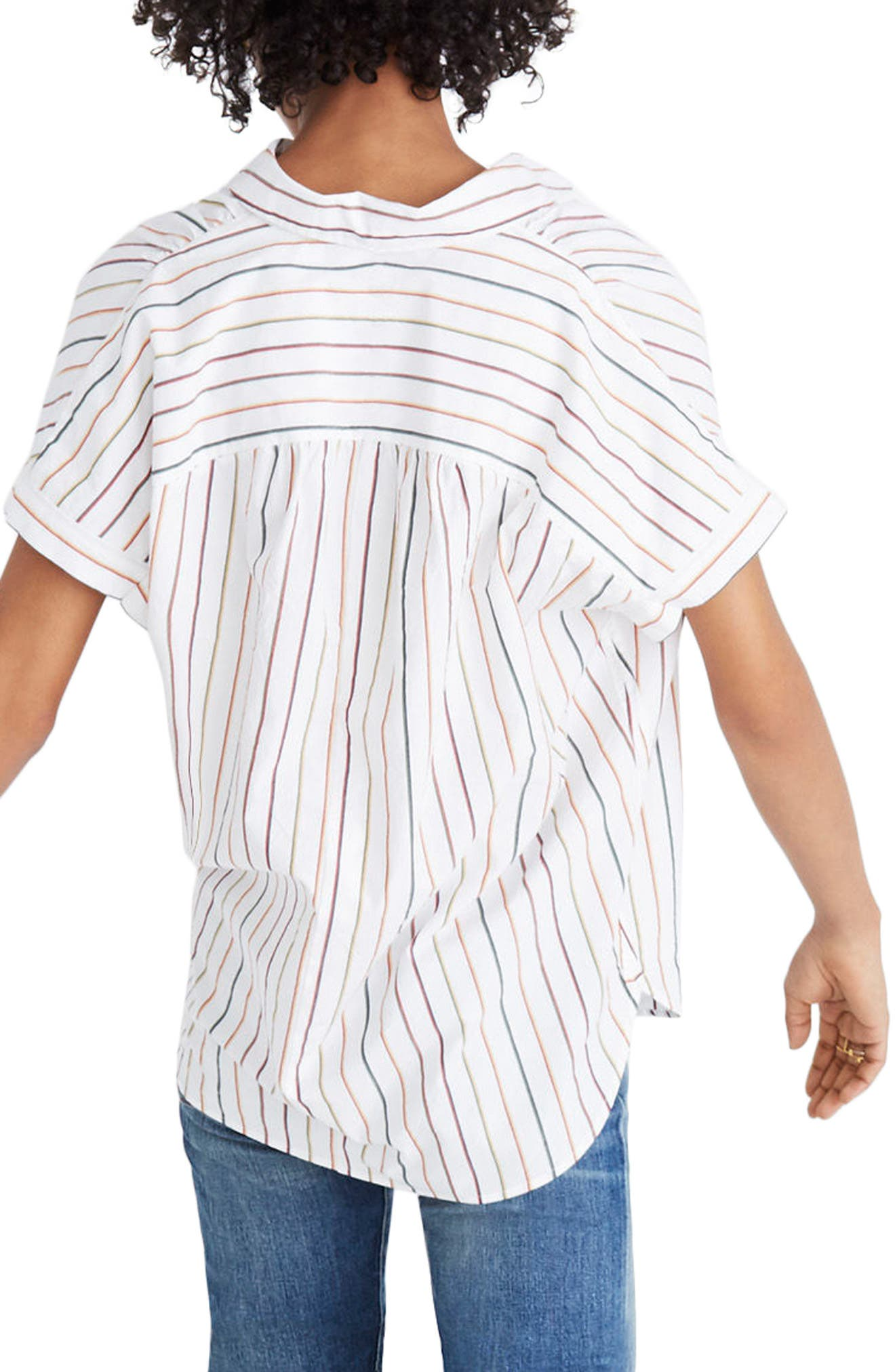 Central Sadie Stripe Shirt,                             Main thumbnail 1, color,                             100