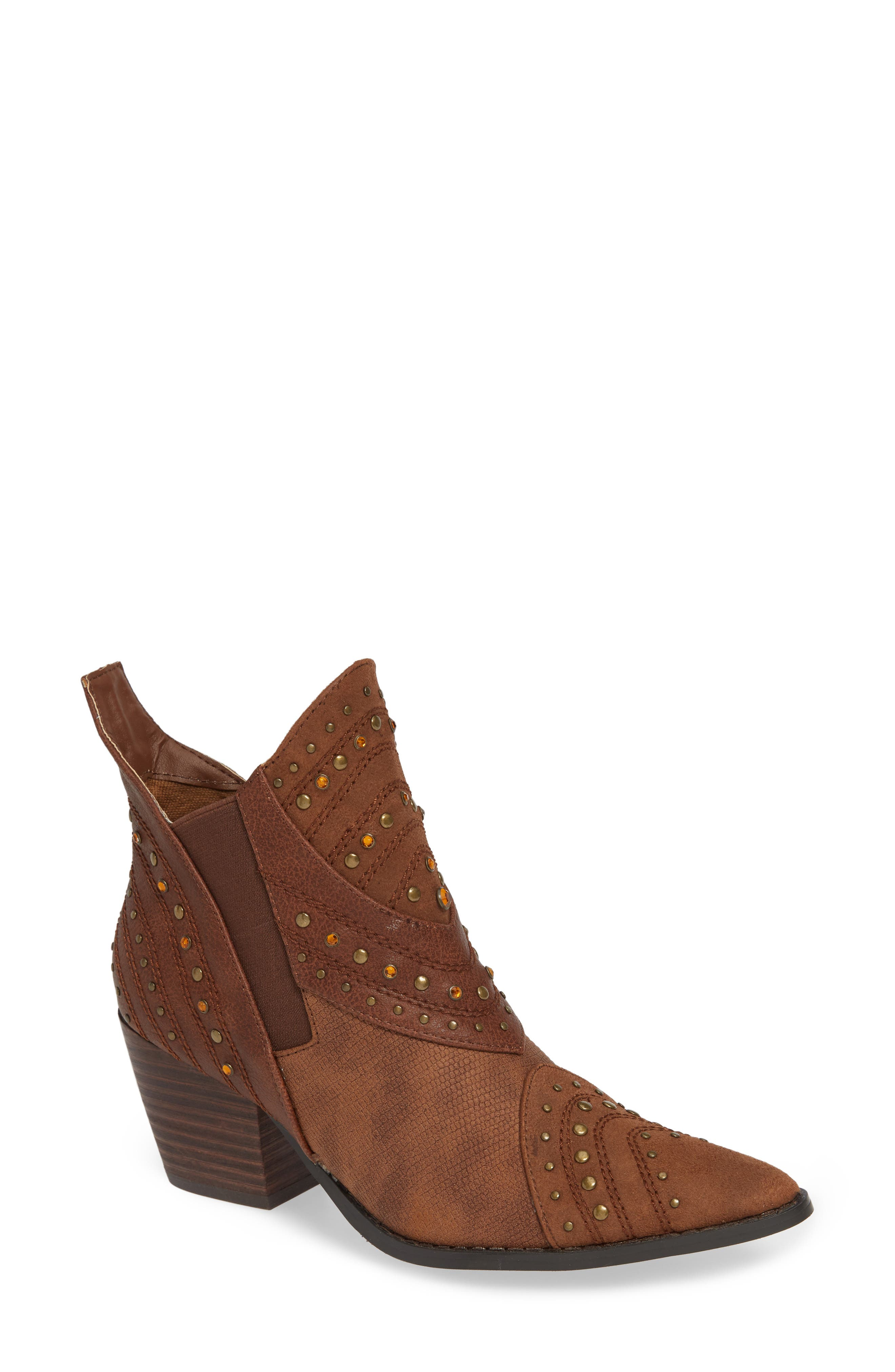 Coconuts By Matisse Storm Western Bootie- Brown
