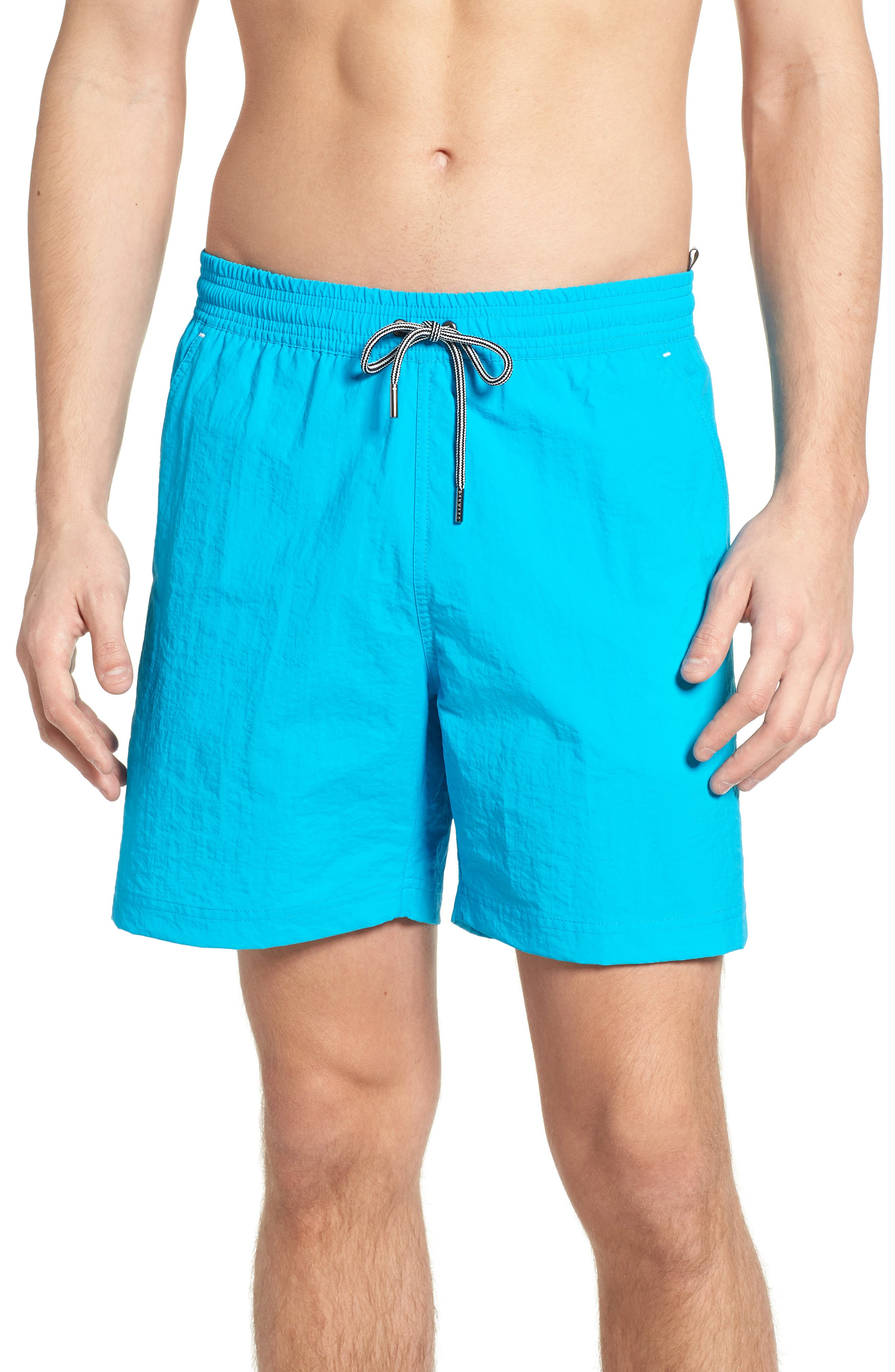 Solid Swim Trunks,                             Main thumbnail 4, color,