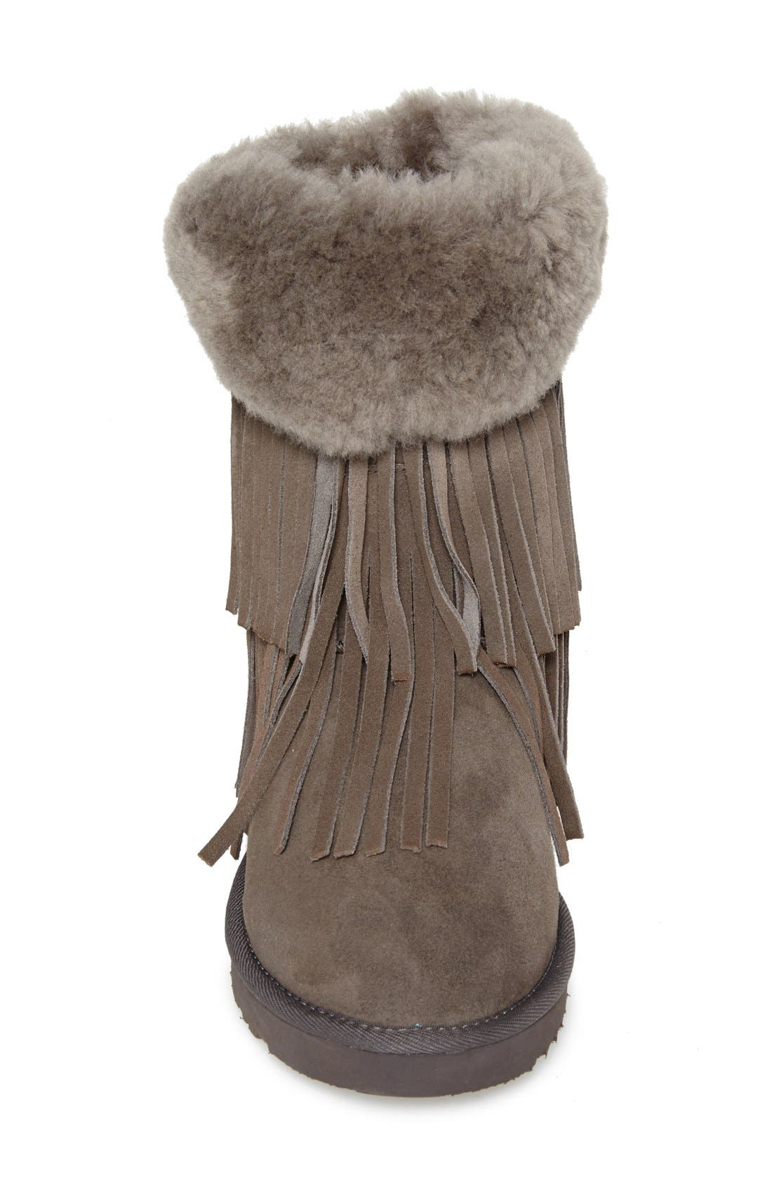 'Haley II' Genuine Shearling Short Boot,                             Alternate thumbnail 3, color,                             020