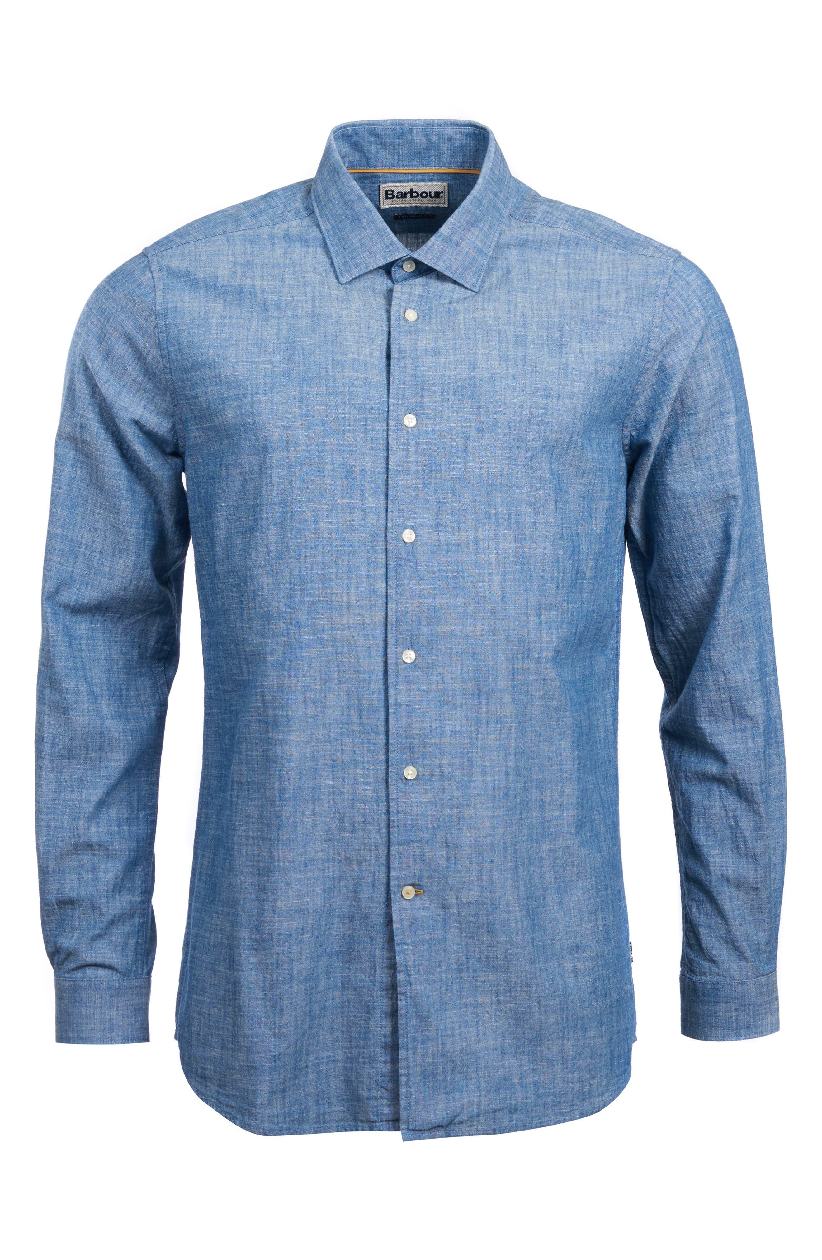 Highfield Chambray Shirt,                             Alternate thumbnail 4, color,                             INDIGO