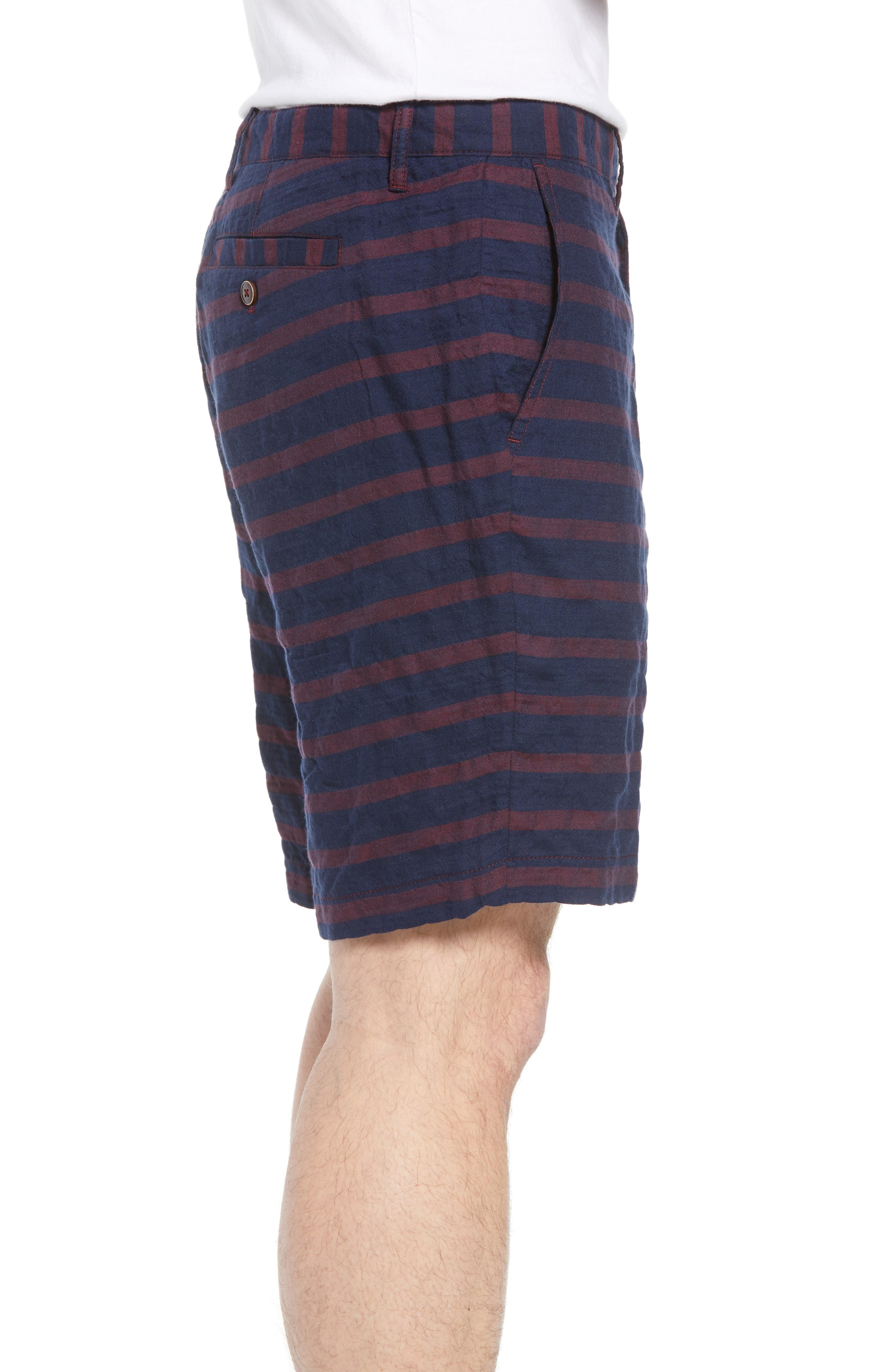 Morgan Stripe Bermuda Shorts,                             Alternate thumbnail 3, color,                             601