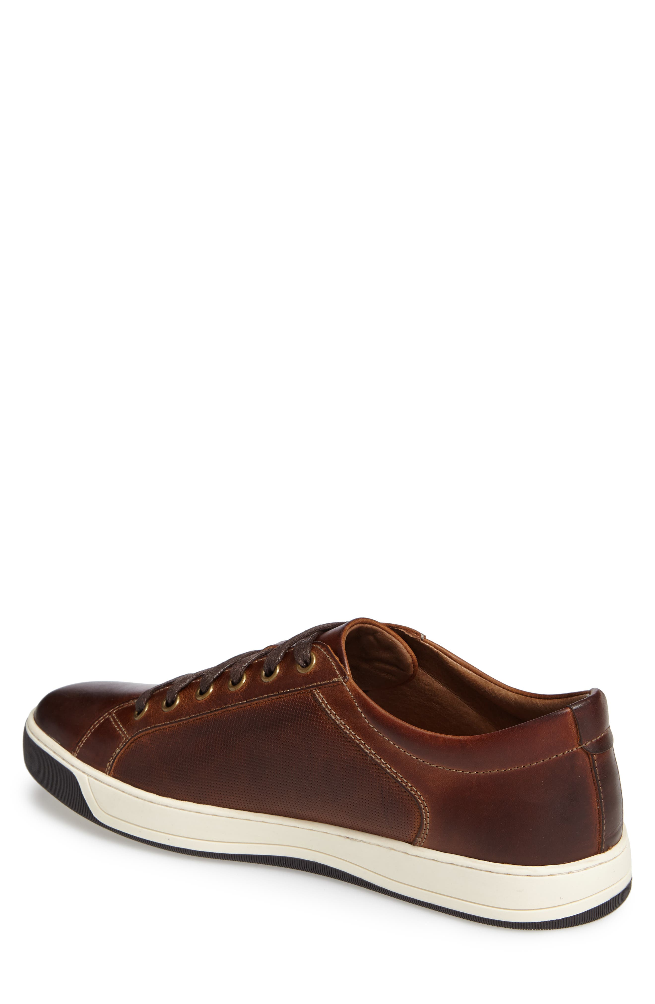 Allister Sneaker,                             Alternate thumbnail 2, color,                             BROWN LEATHER