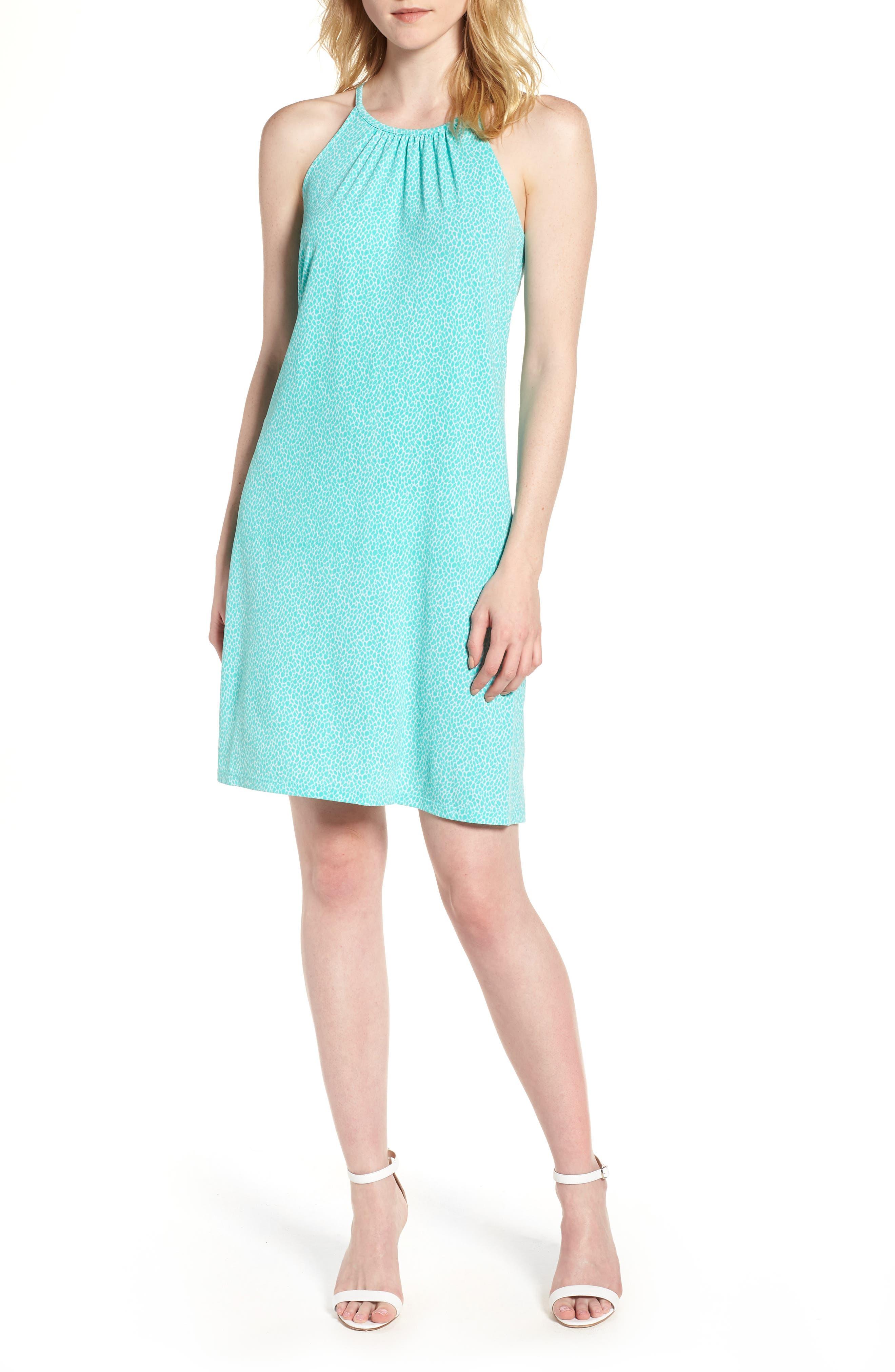 Leo Halter Top Mini Dress,                         Main,                         color, 199