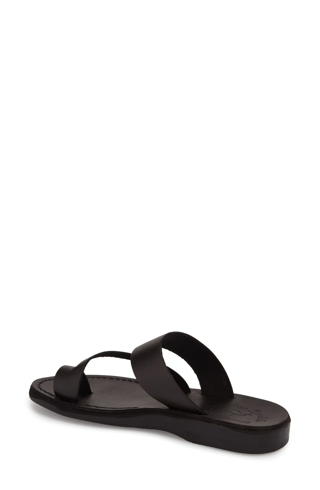 'Zohar' Leather Sandal,                             Alternate thumbnail 8, color,