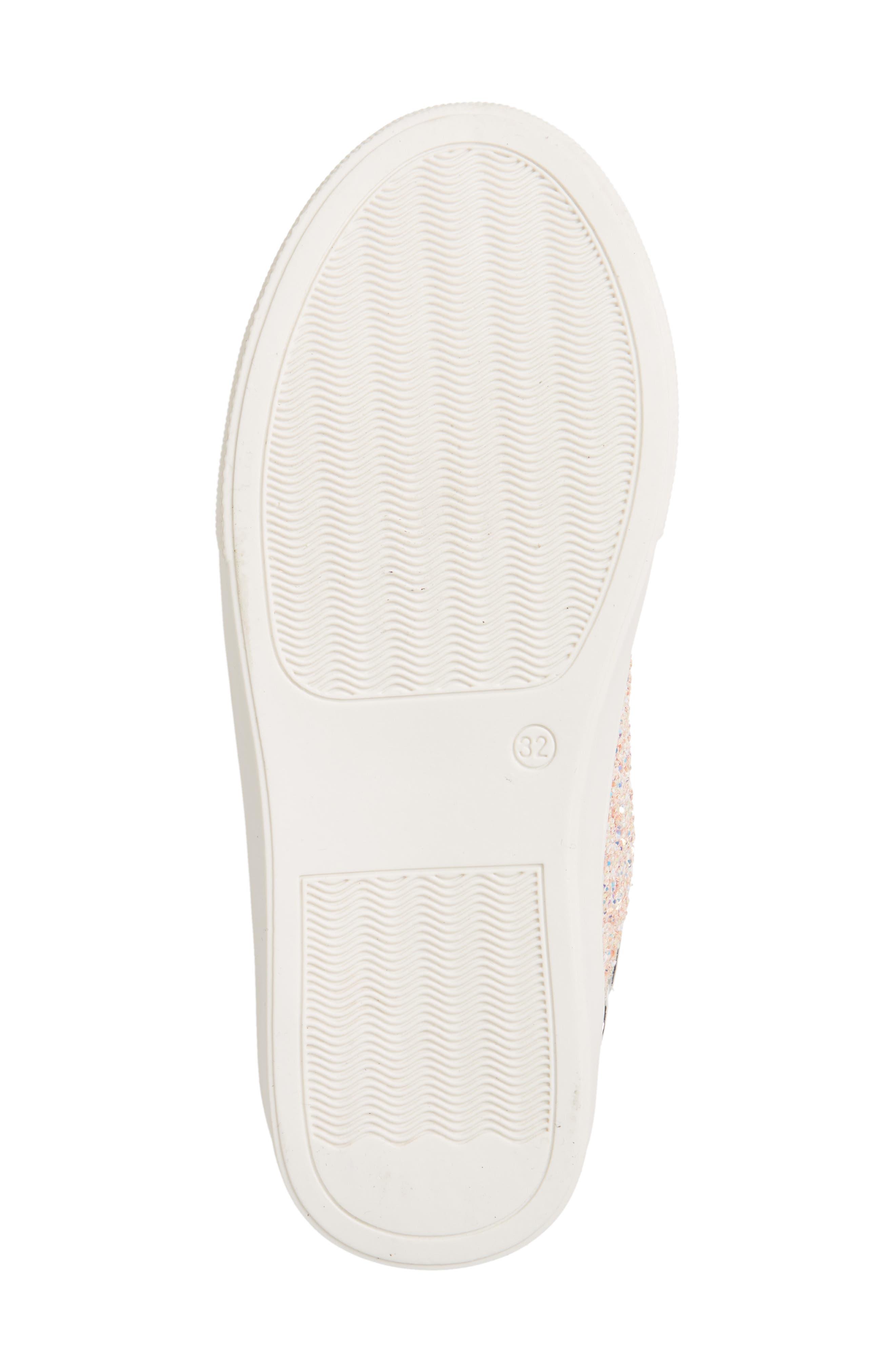 YOSI SAMRA,                             Miss Bowery Glitter Sneaker,                             Alternate thumbnail 6, color,                             182