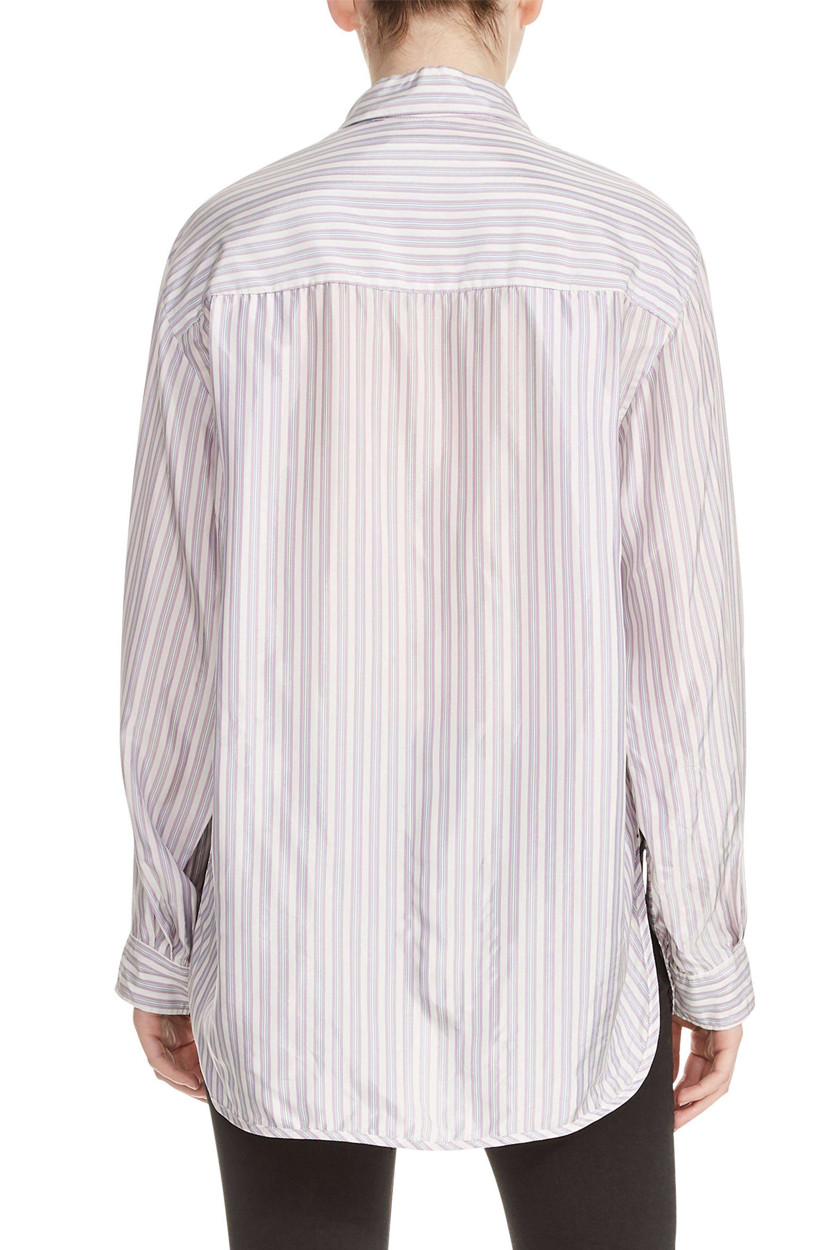 Celina High/Low Stripe Blouse,                             Alternate thumbnail 2, color,                             100