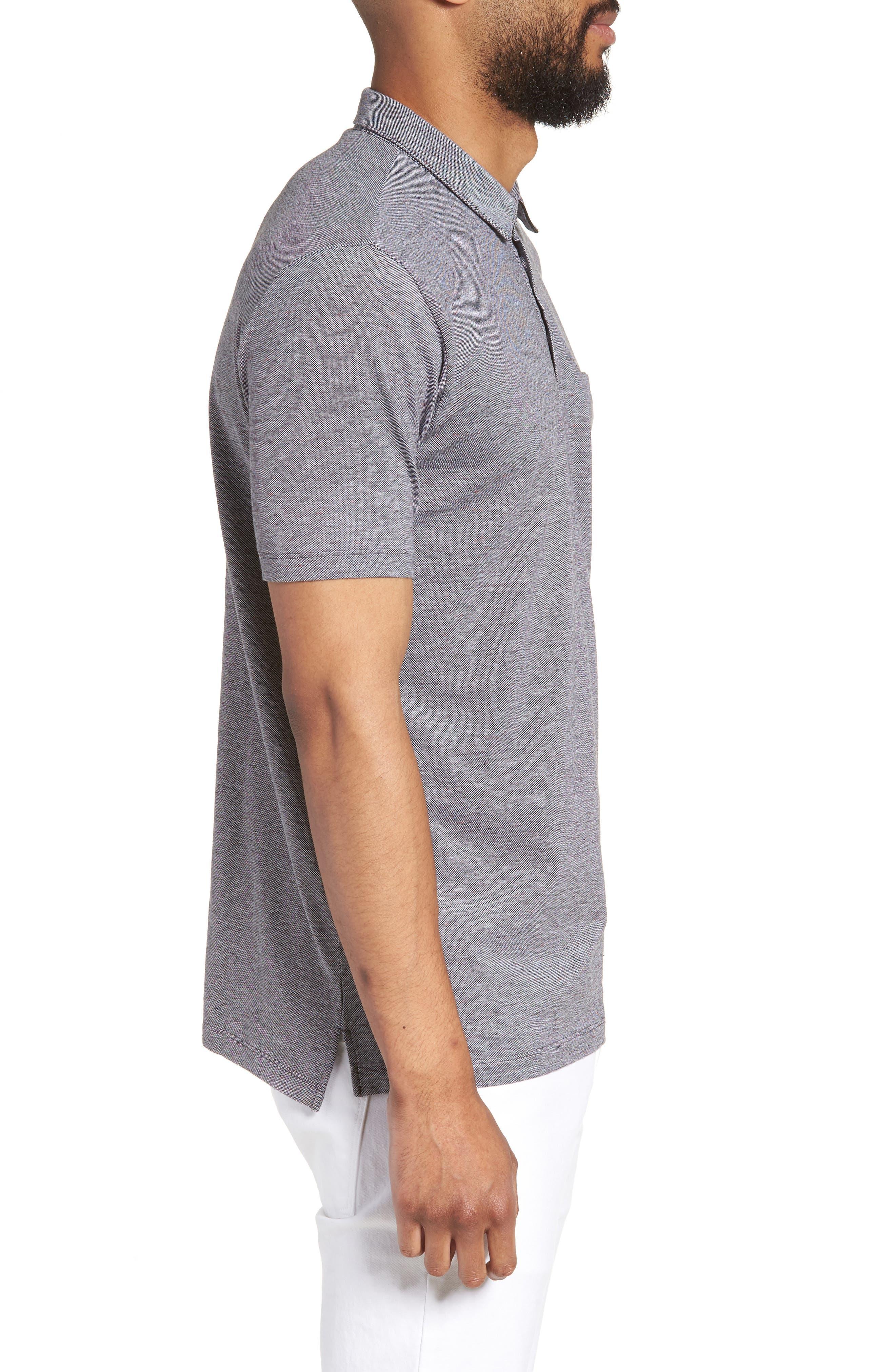 Darrow Cotton Polo Shirt,                             Alternate thumbnail 3, color,                             001