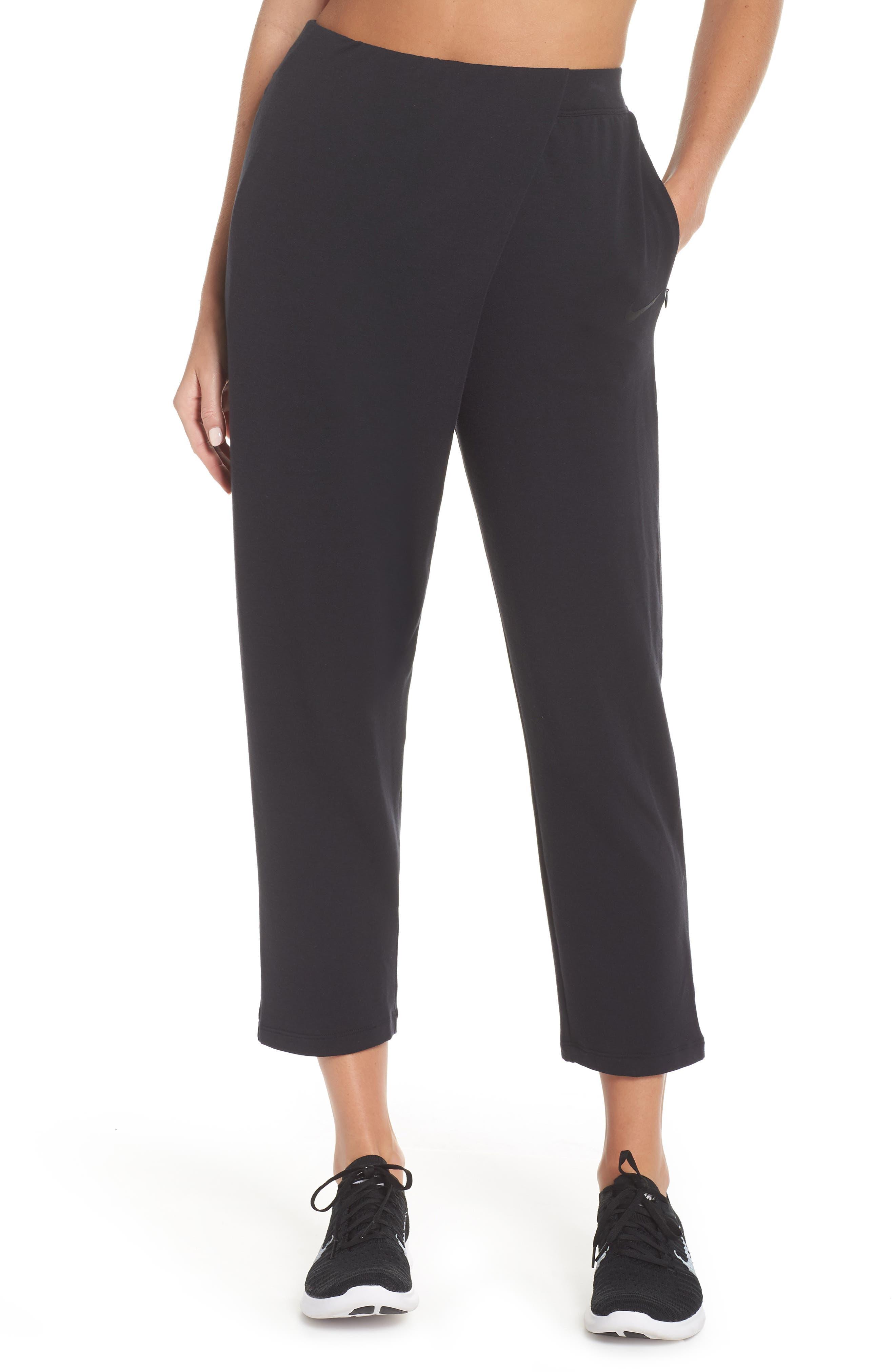 NIKE Dry Studio Training Pants, Main, color, BLACK/ BLACK