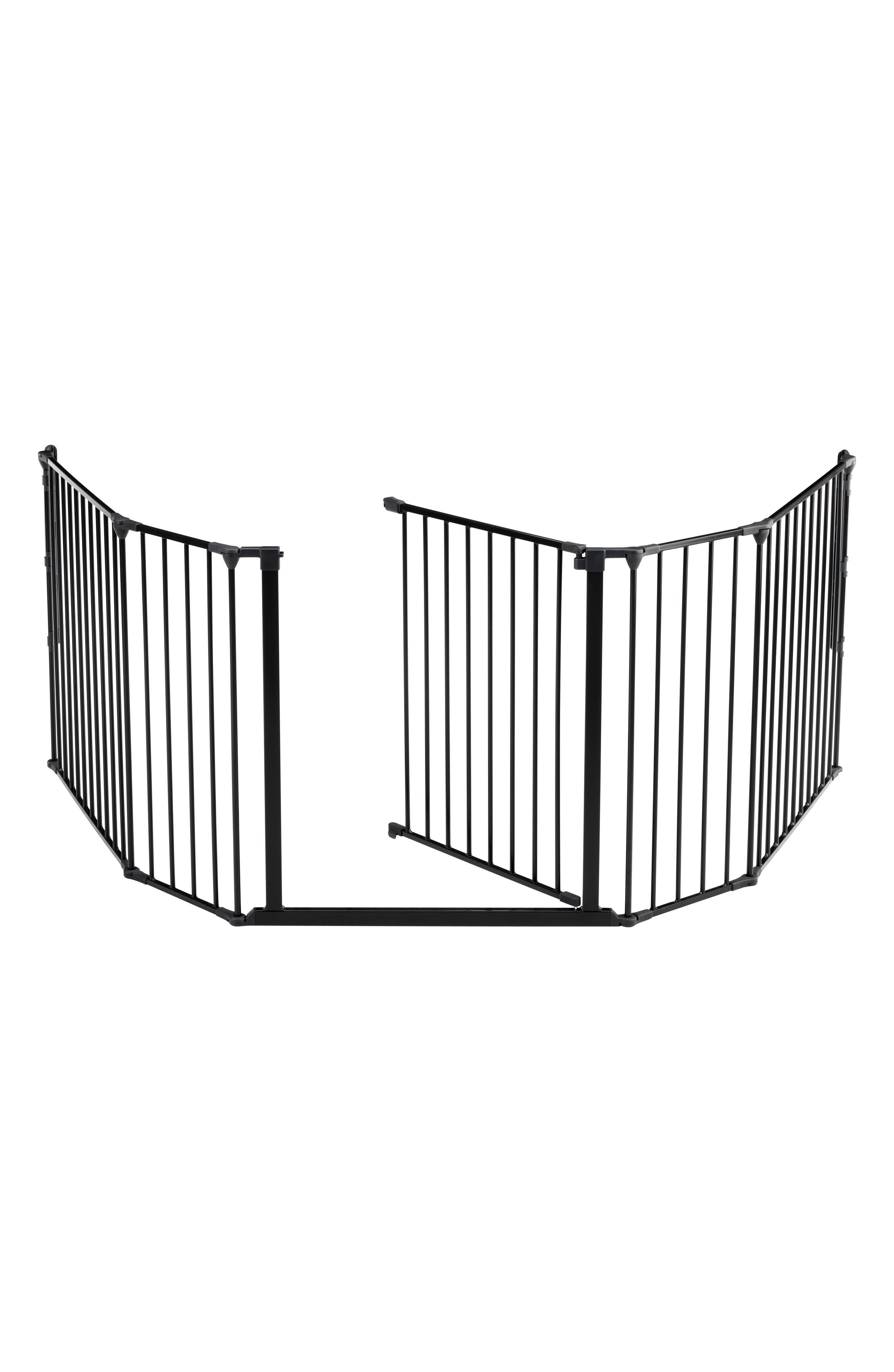 Flex XL Metal Hearth Gate,                             Alternate thumbnail 4, color,                             BLACK