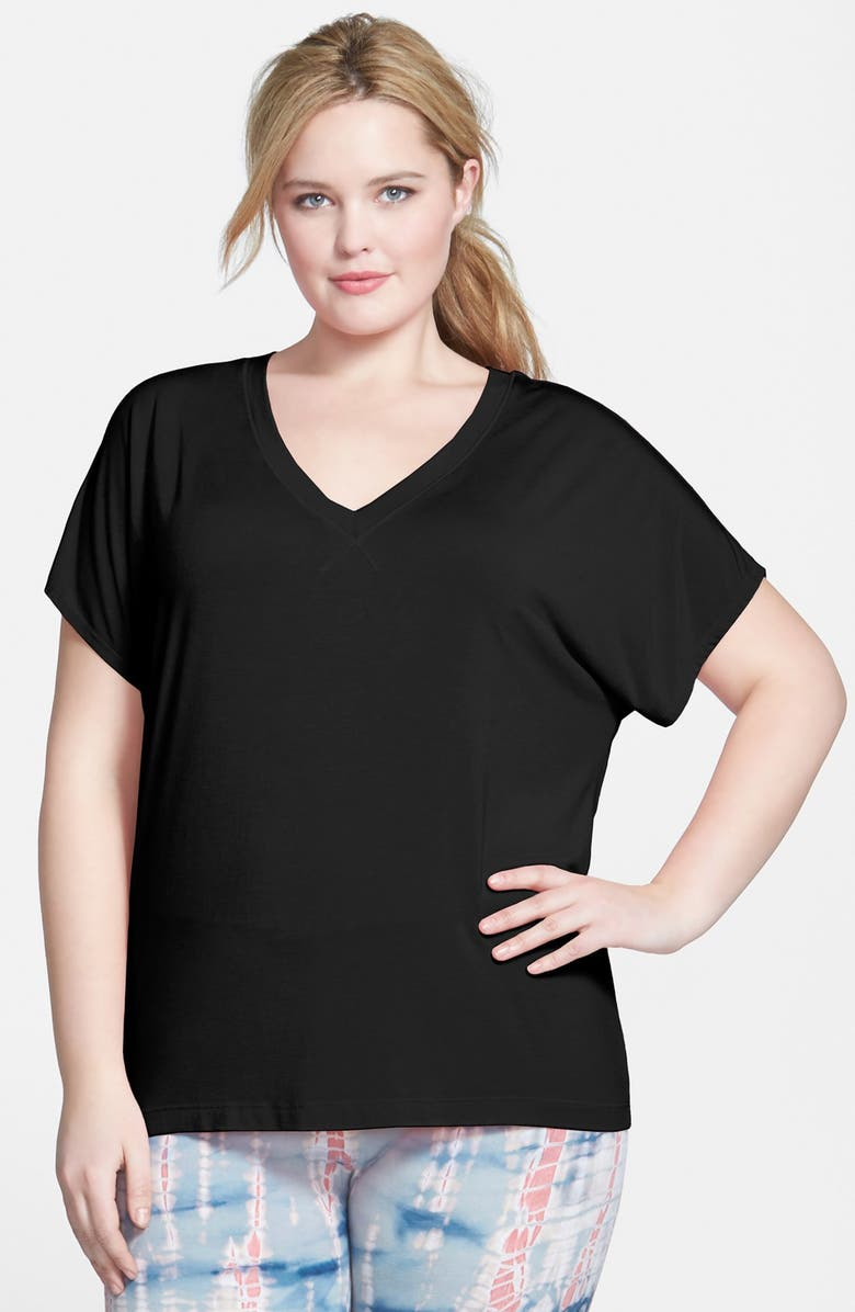 f161c655b2f Hard Tail Slouchy V-Neck Tee (Plus Size)