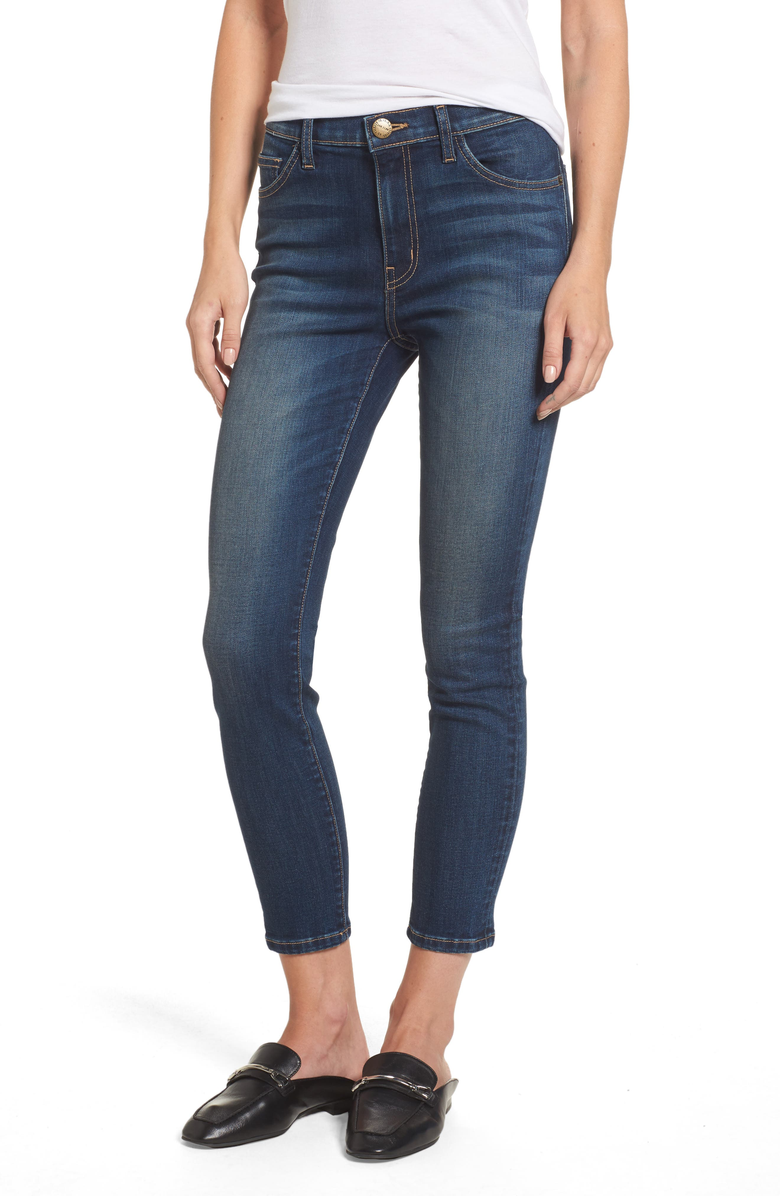 The Stiletto High Waist Ankle Skinny Jeans,                             Main thumbnail 1, color,                             477