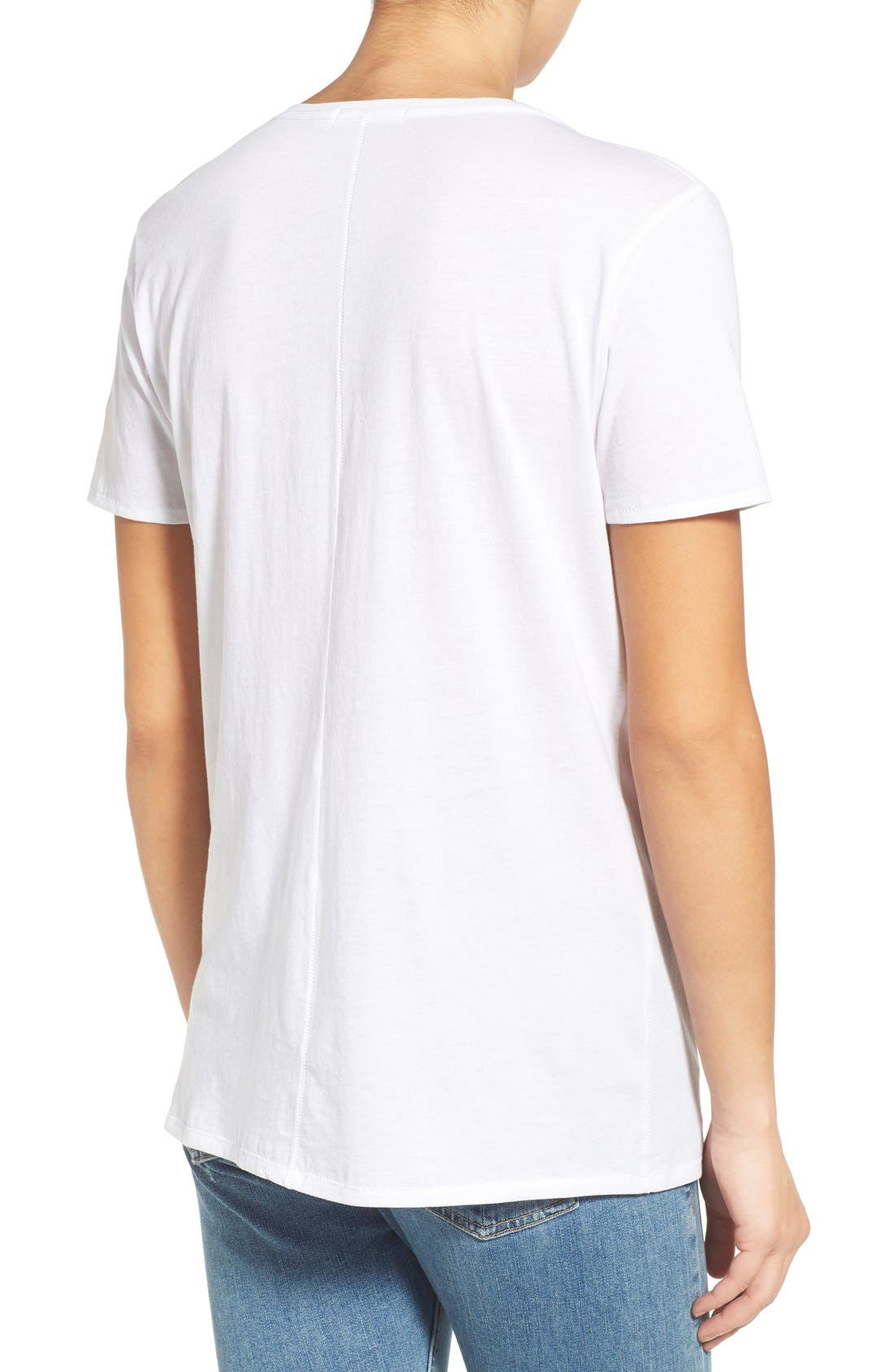 'Base' Cotton V-Neck Tee,                             Alternate thumbnail 2, color,                             101