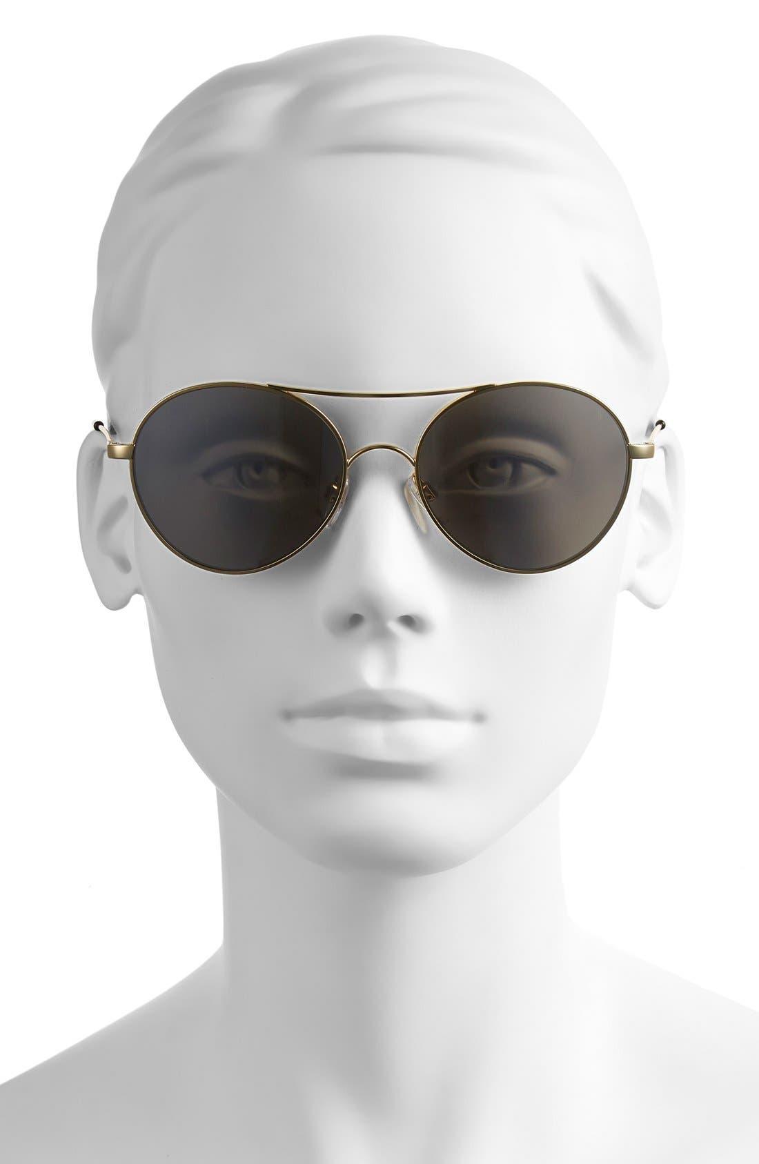 'Huxley' 53mm Round Sunglasses,                             Alternate thumbnail 5, color,