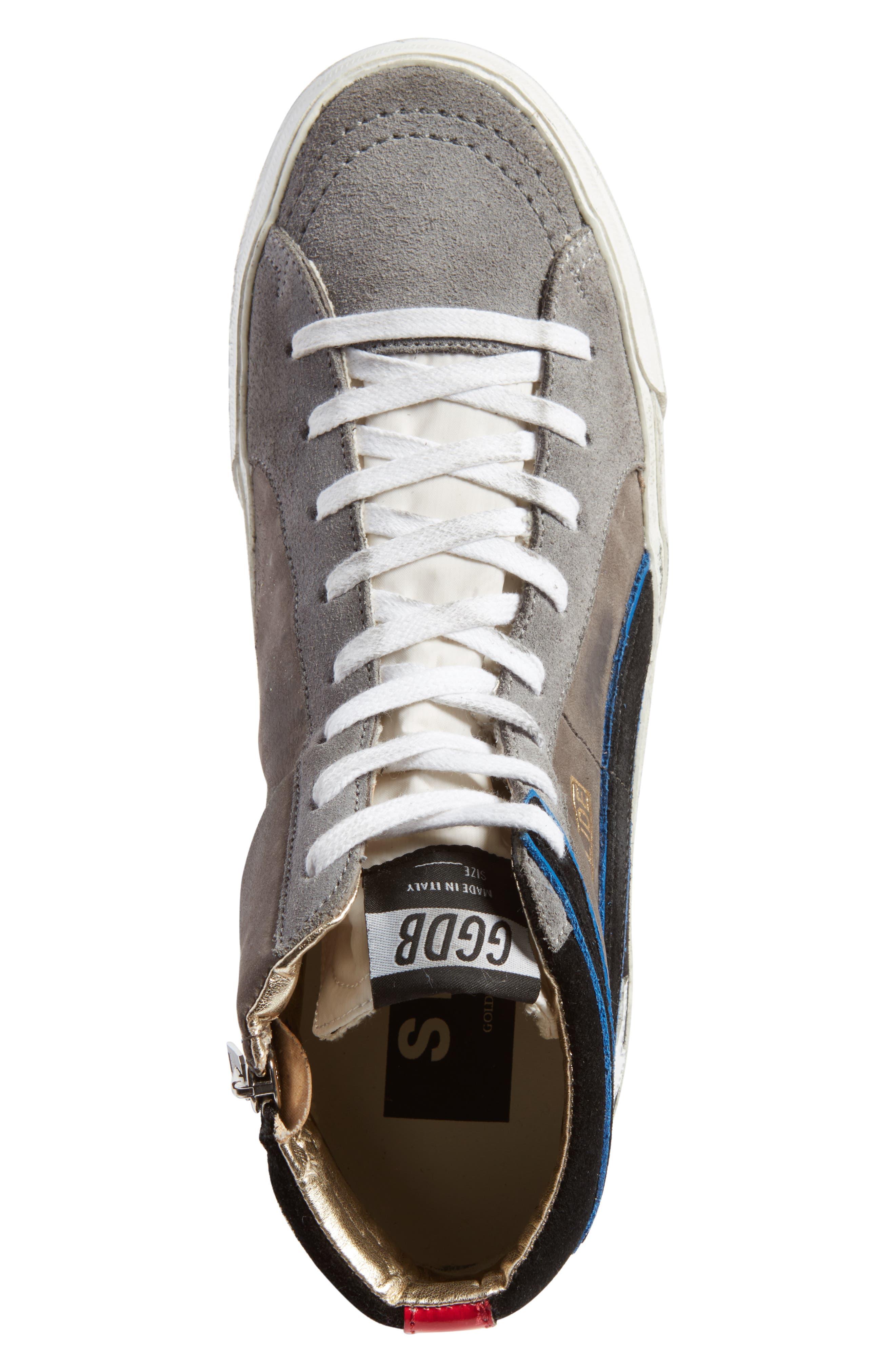 Slide High Top Sneaker,                             Alternate thumbnail 5, color,                             021