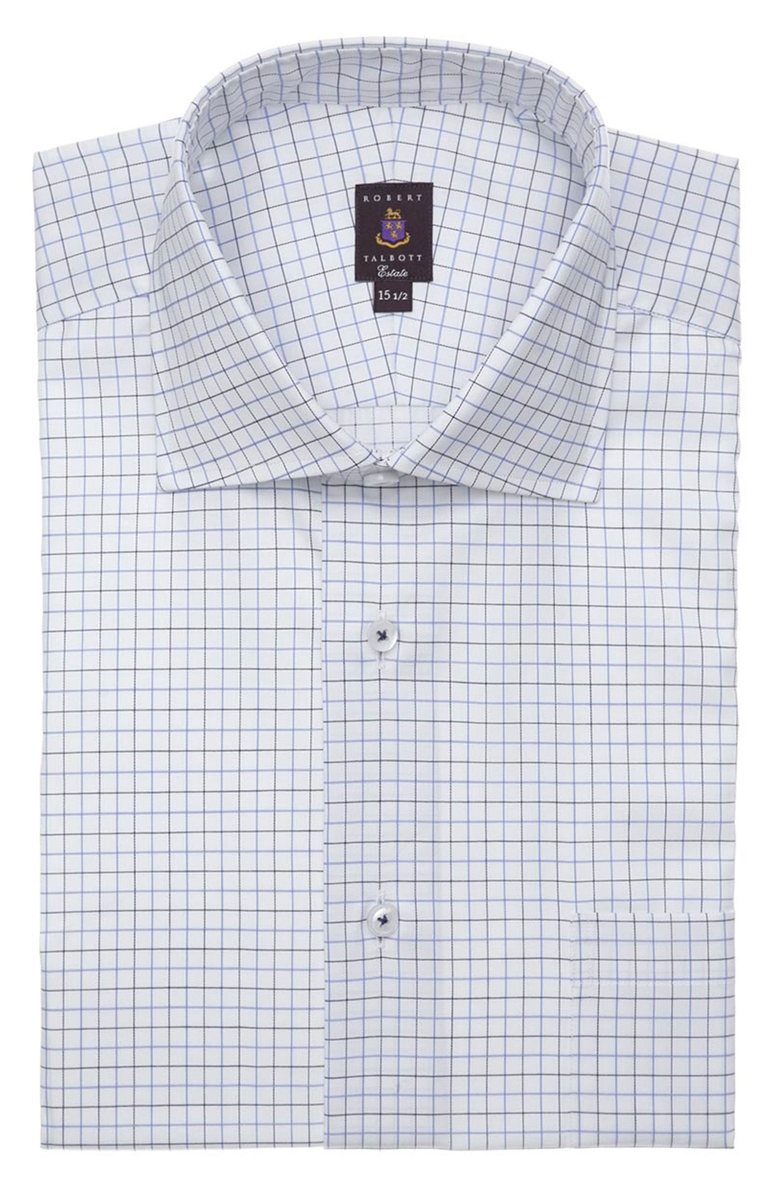 Tailored Fit Check Dress Shirt,                         Main,                         color, 401