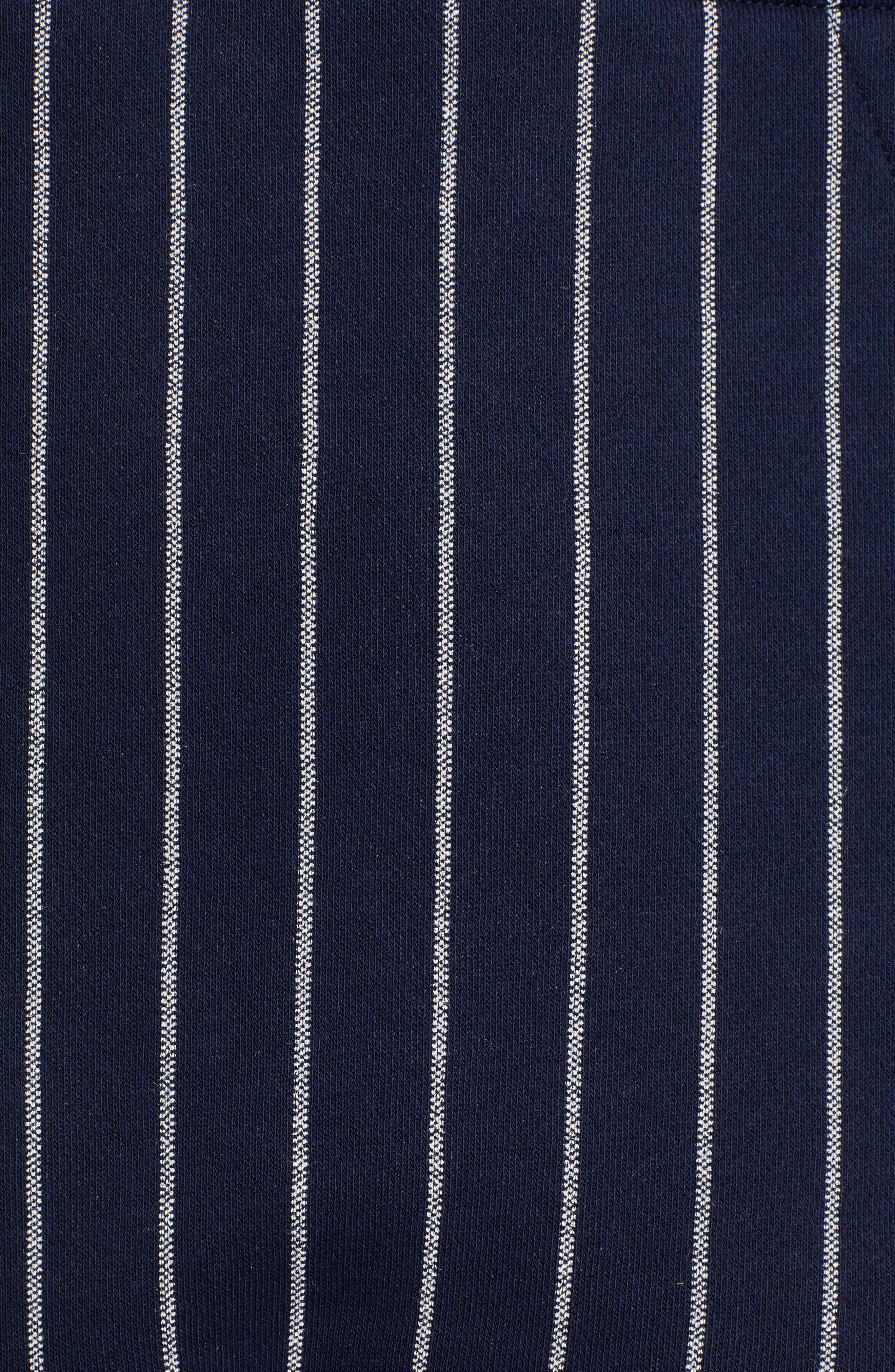 UOTF Core Pintstripe Hoodie,                             Alternate thumbnail 5, color,                             SARTHO BLUE/ MILK