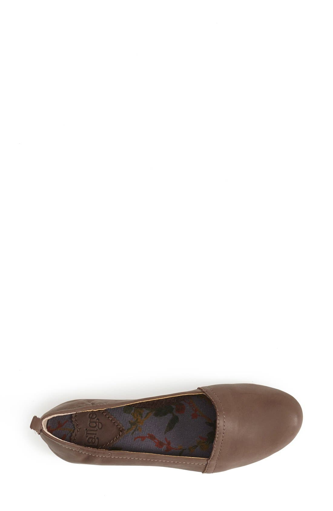 'Bettie' Leather Flat,                             Alternate thumbnail 19, color,