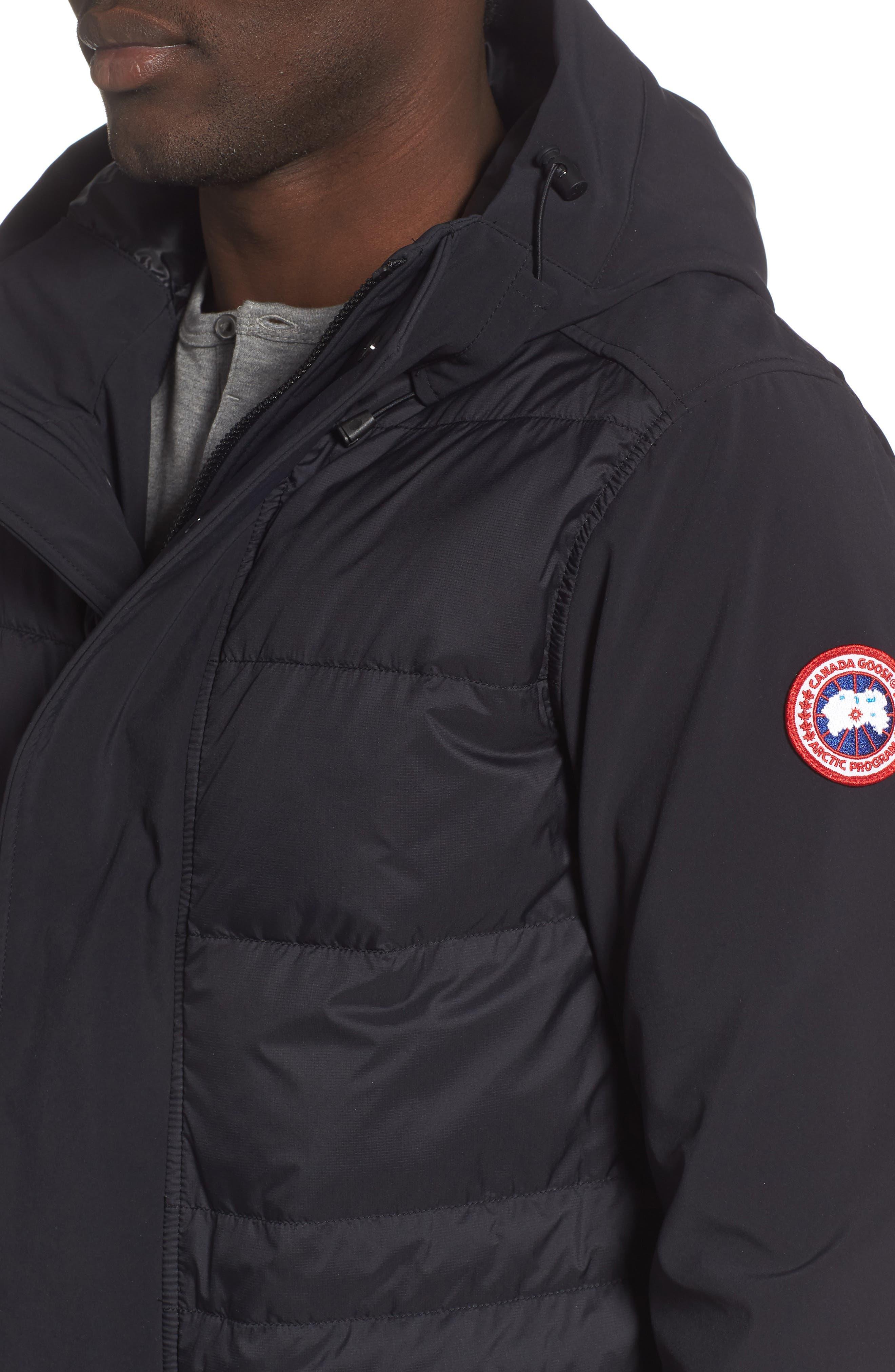 CANADA GOOSE,                             Breton 675-Fill Power Down Coat,                             Alternate thumbnail 4, color,                             BLACK