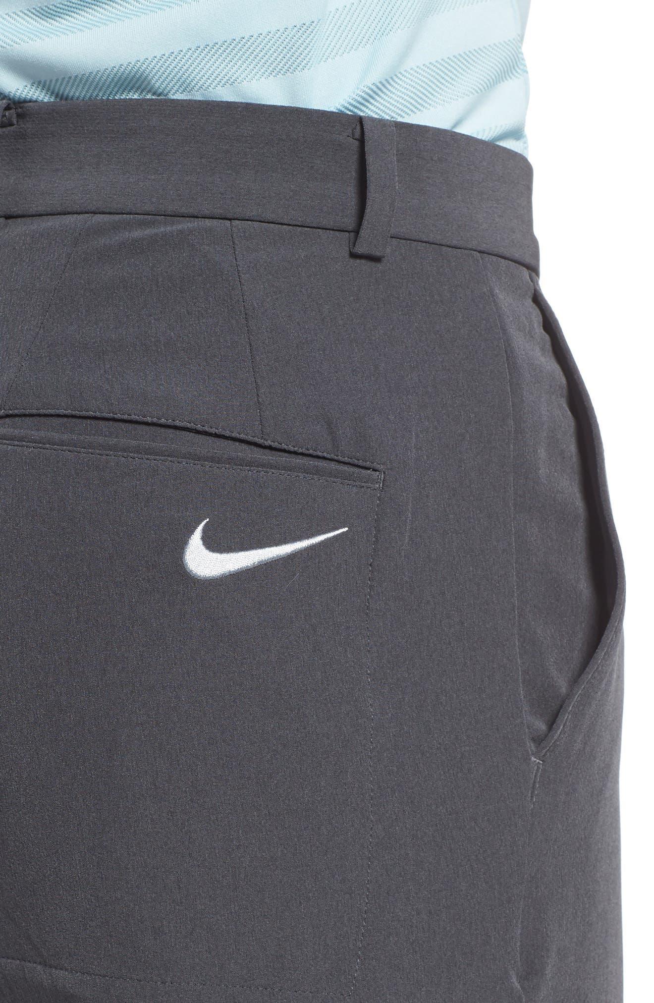 Hybrid Flex Golf Pants,                             Alternate thumbnail 4, color,                             CHARCOAL HEATHER/ DARK GREY