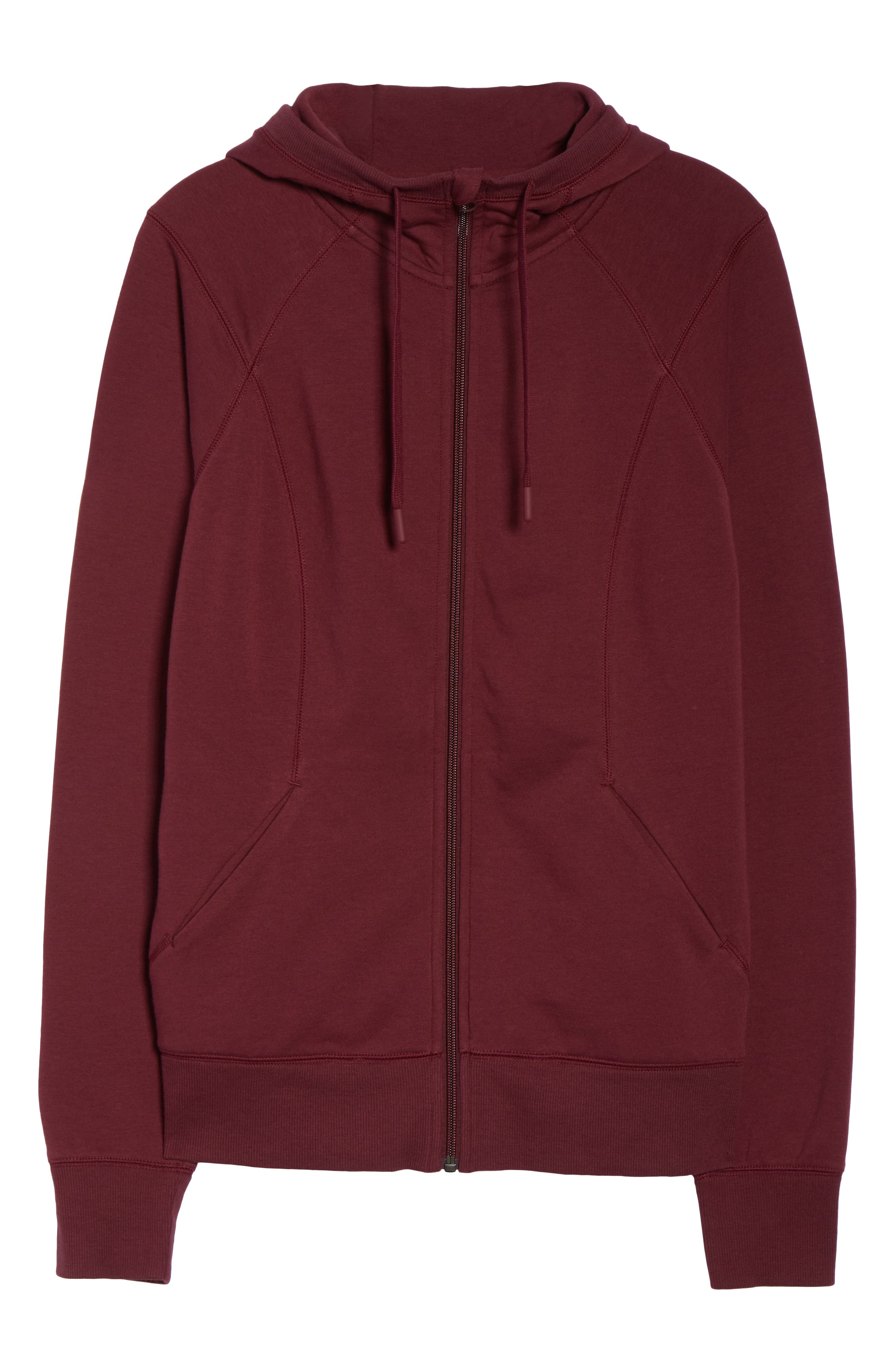 Outta Town Zip Hoodie,                             Alternate thumbnail 7, color,                             RED TANNIN