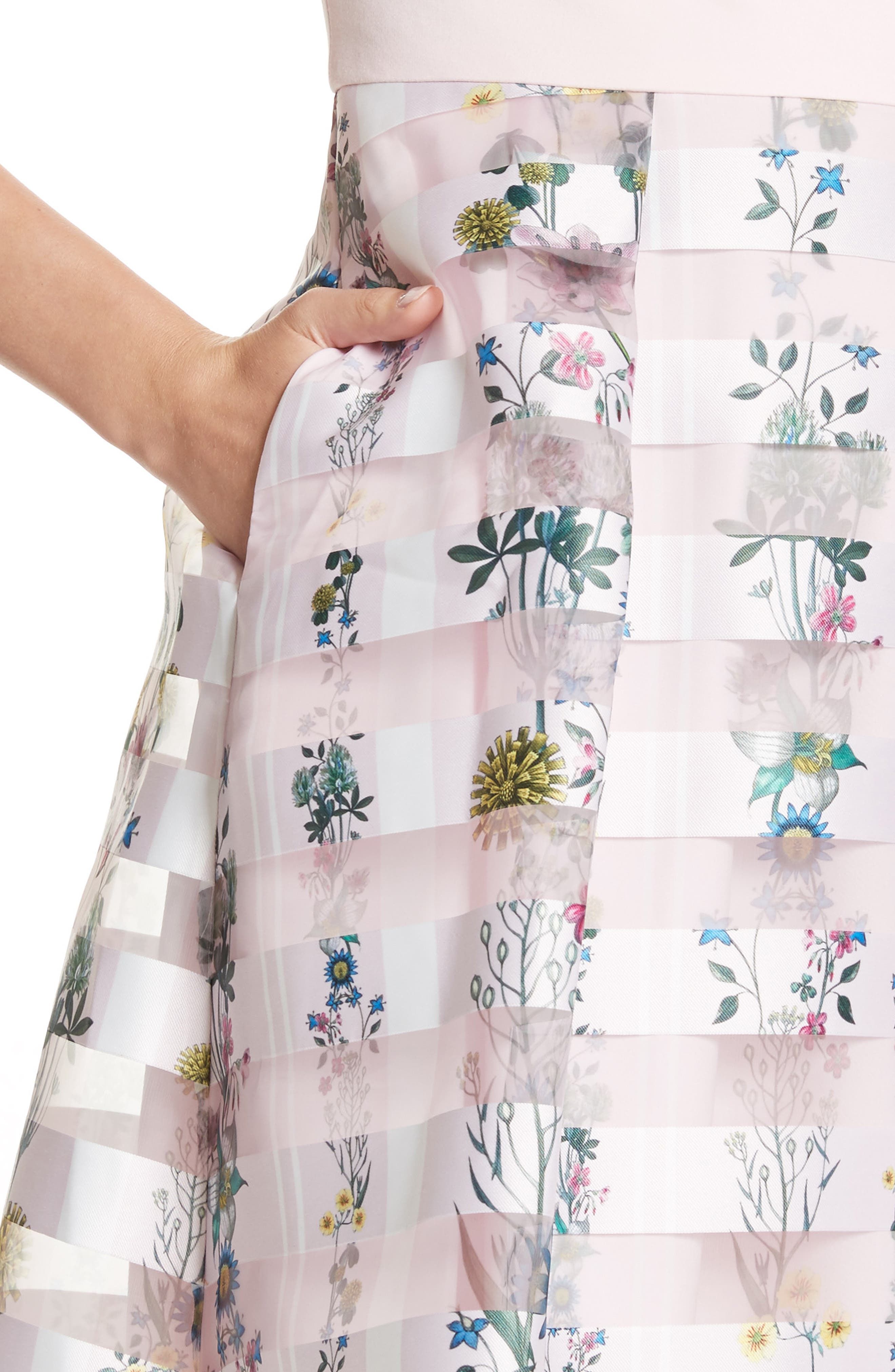 Lulou Unity Floral Off the Shoulder Dress,                             Alternate thumbnail 4, color,                             672