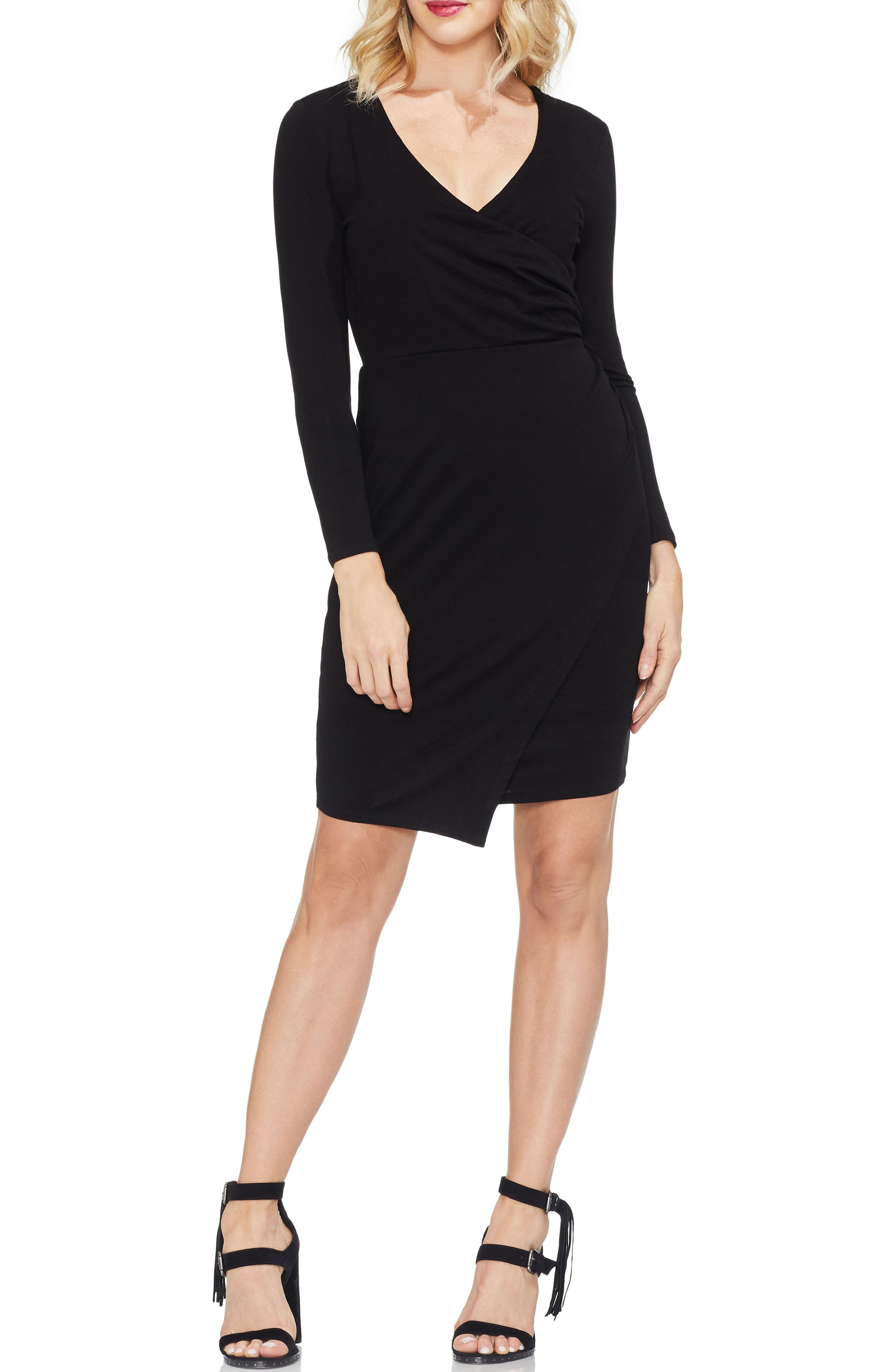 Vince Camuto Faux Wrap Front Dress