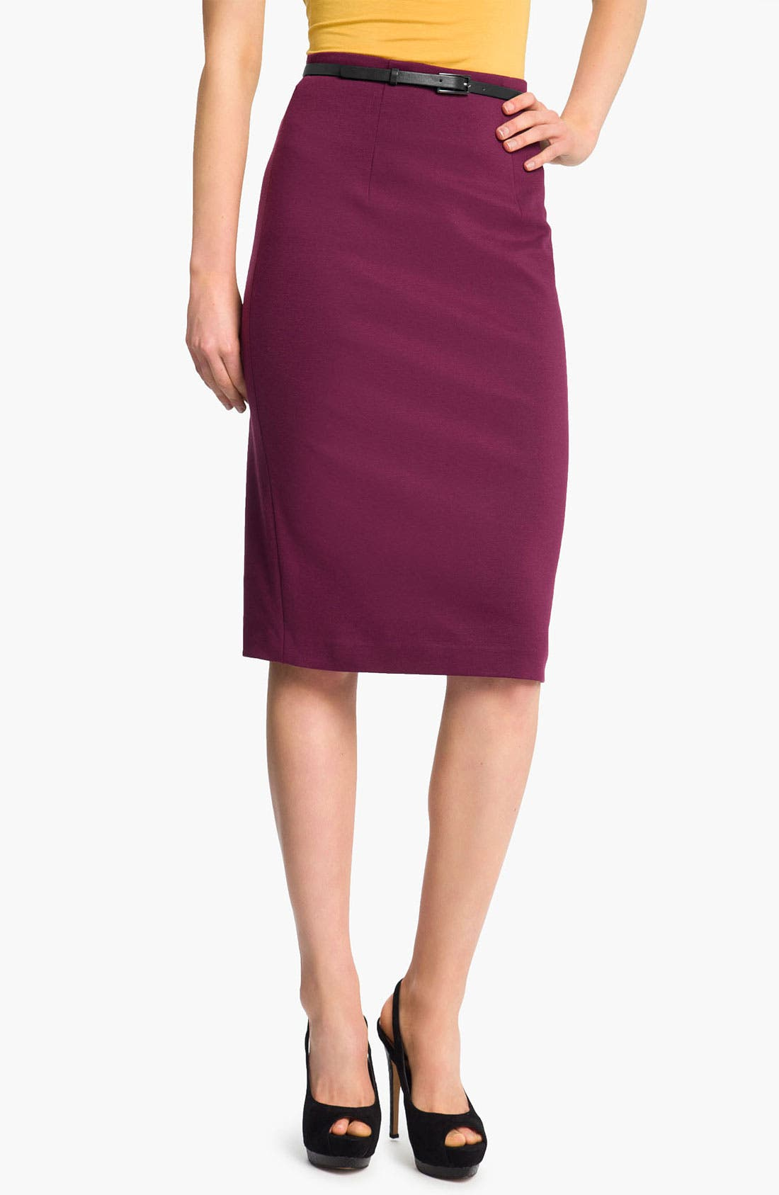 Belted Ponte Skirt,                             Main thumbnail 12, color,