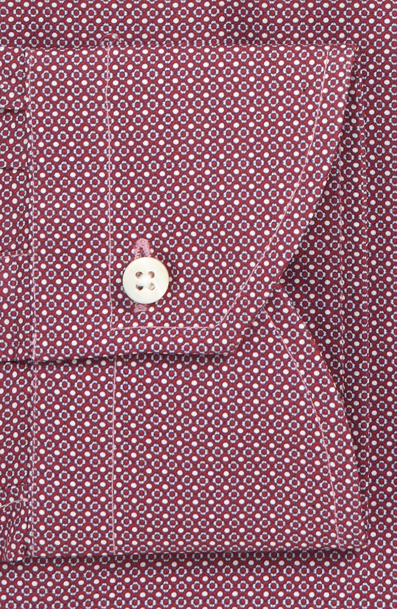 CANALI,                             Regular Fit Pattern Dress Shirt,                             Alternate thumbnail 2, color,                             DARK RED