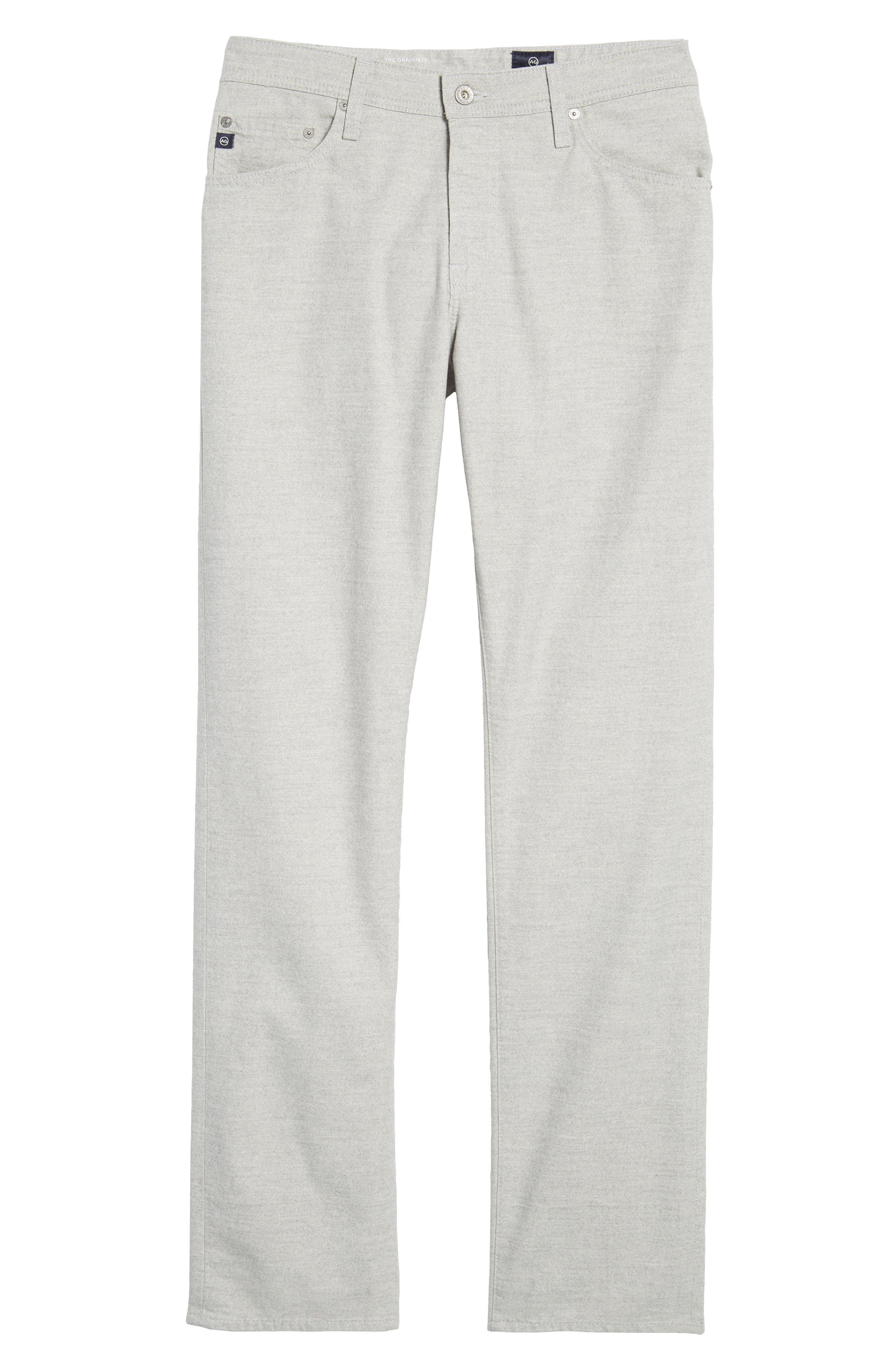 Graduate Tailored Five-Pocket Straight Leg Pants,                             Alternate thumbnail 6, color,                             020