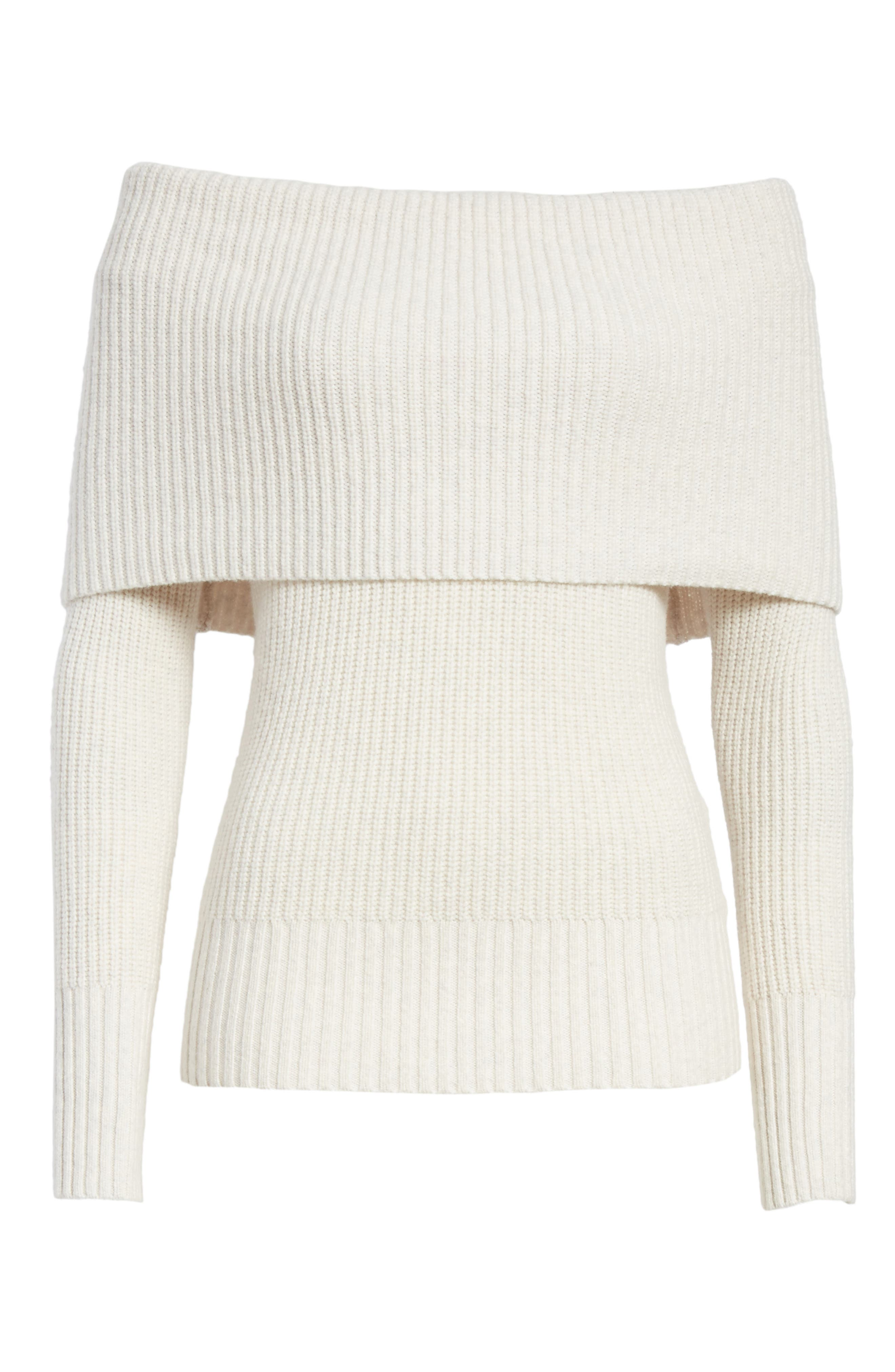 Off the Shoulder Sweater,                             Alternate thumbnail 6, color,                             900