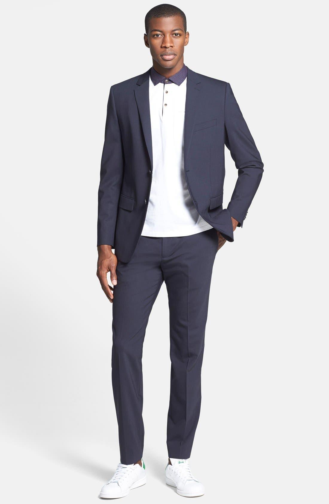 'Marlo New Tailor' Slim Fit Pants,                             Alternate thumbnail 9, color,