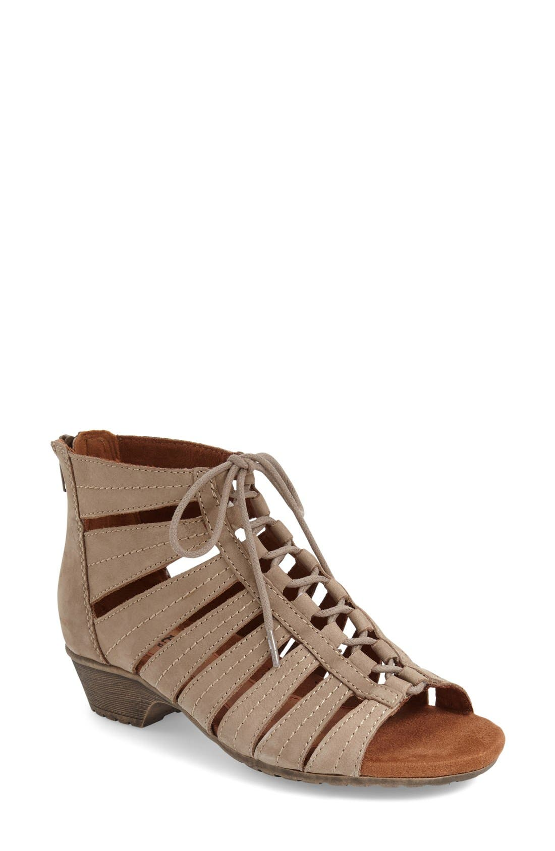 'Gabby' Lace-Up Sandal,                             Main thumbnail 6, color,