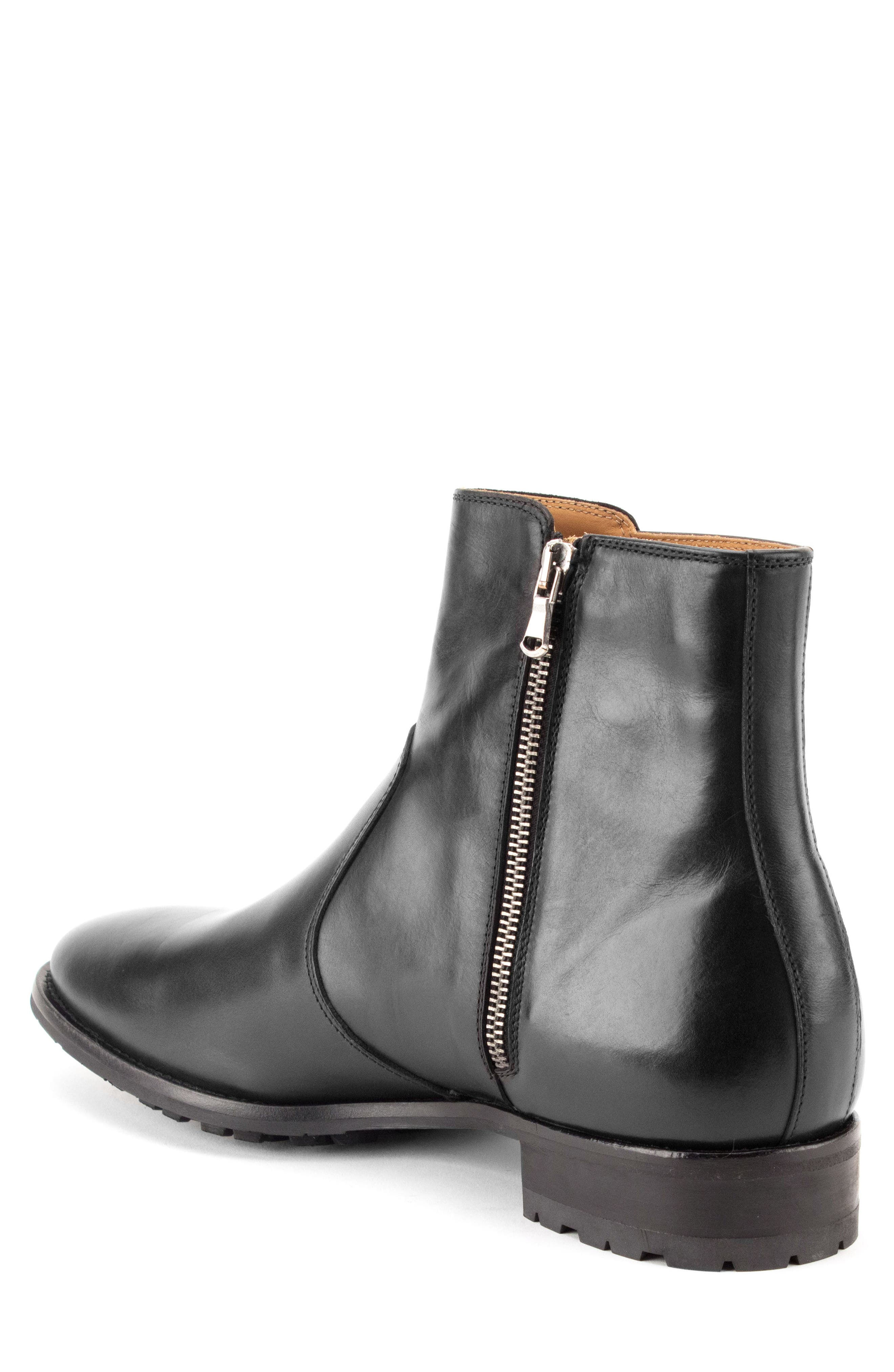 Roberts Zip Boot,                             Alternate thumbnail 2, color,                             BLACK LEATHER